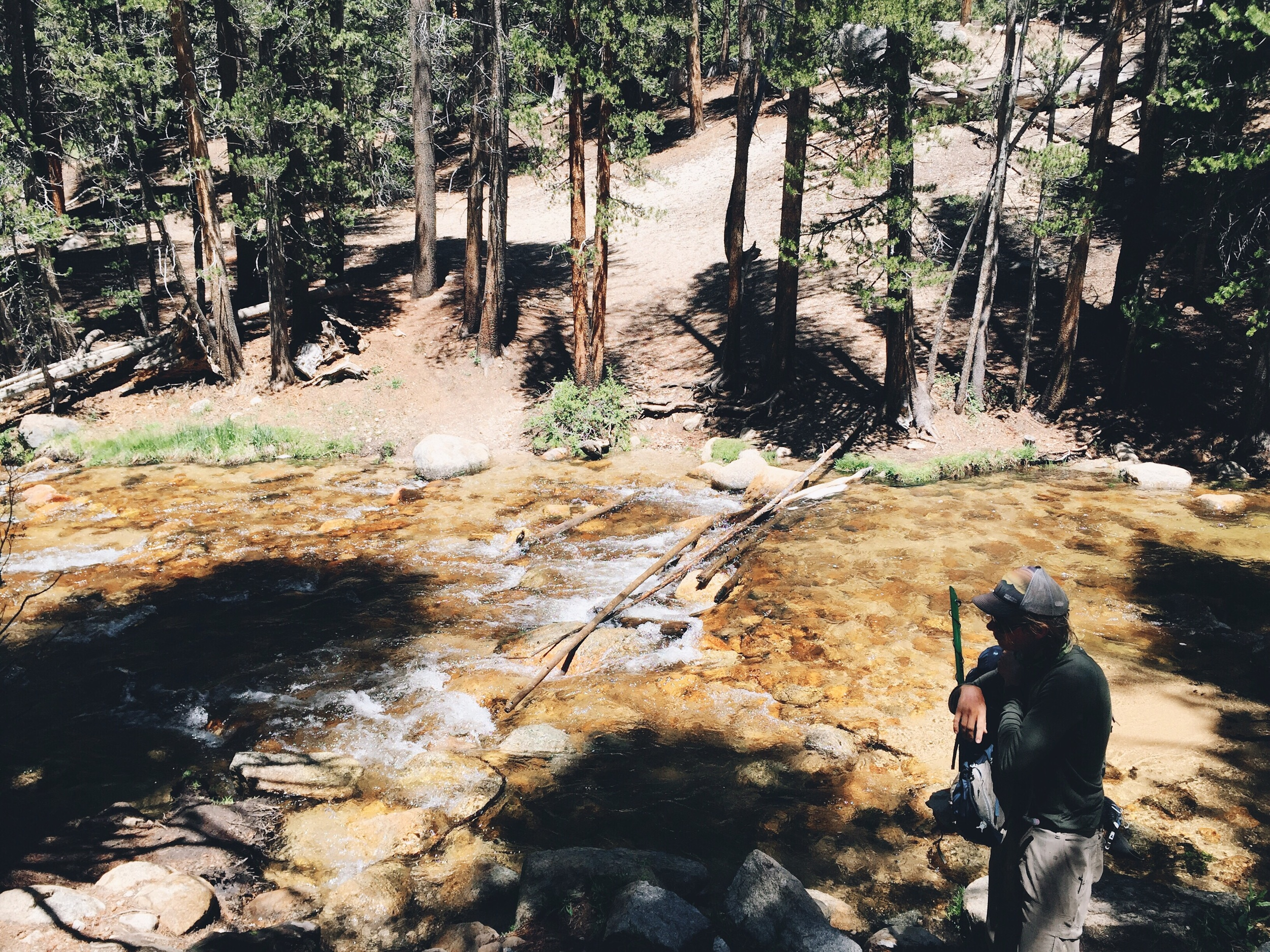 Our first river crossing at rock creek.