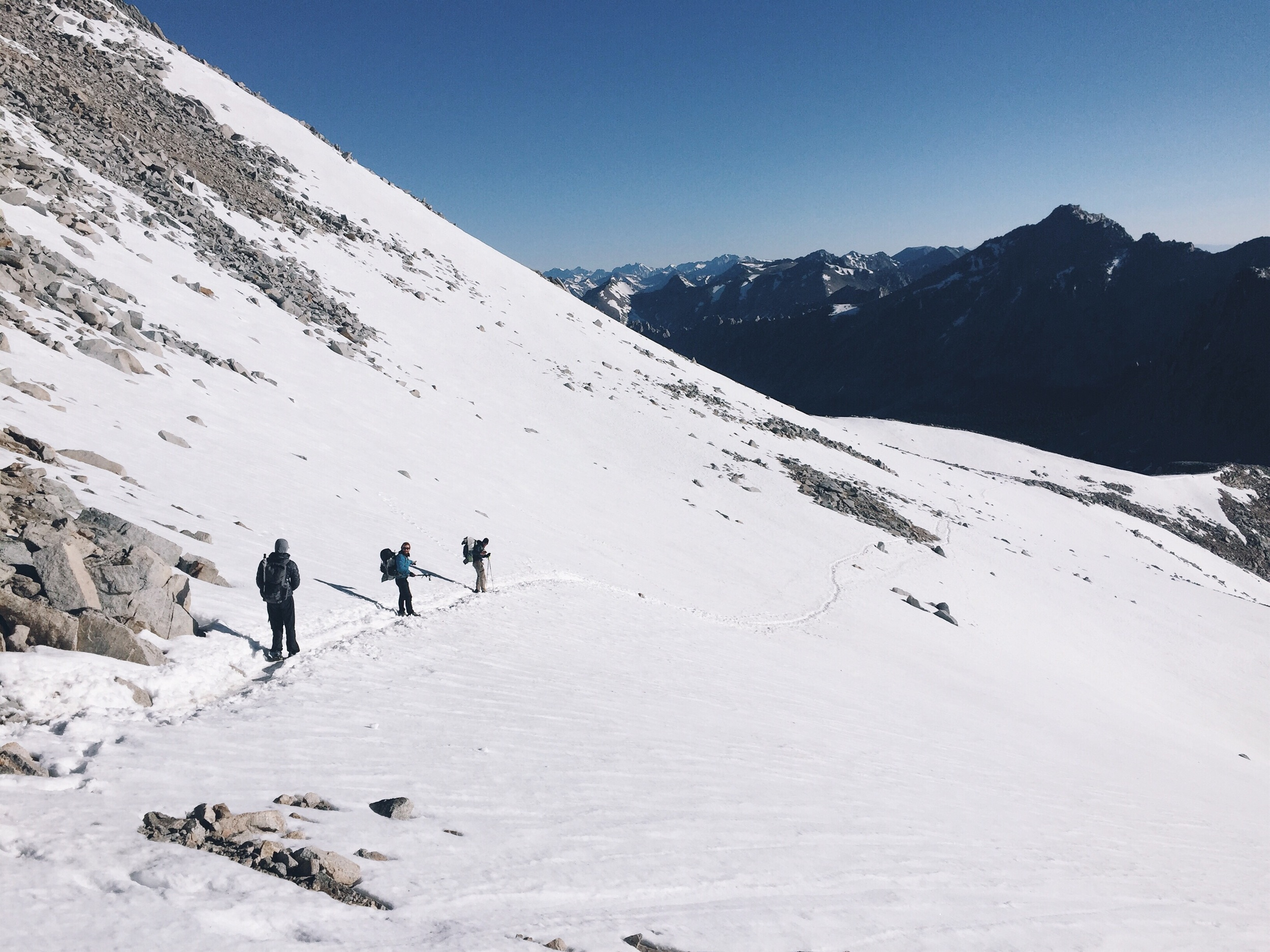 Descending from forester. All snow.