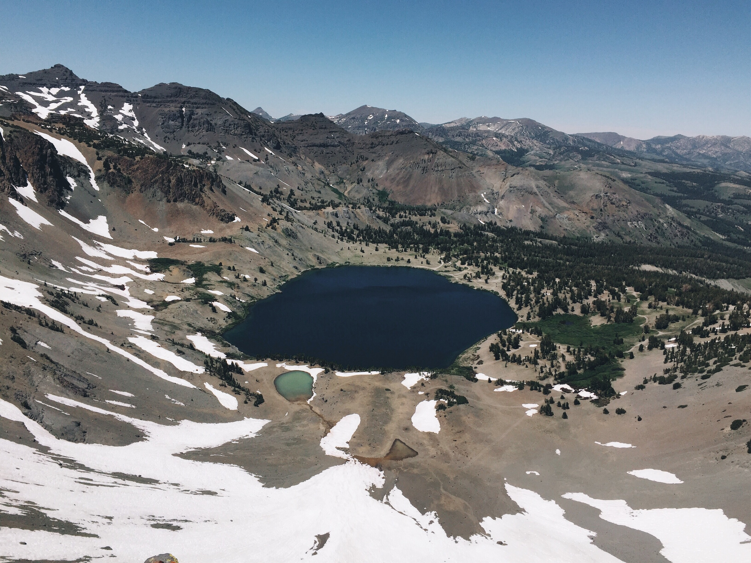 Some views of lakes from above.
