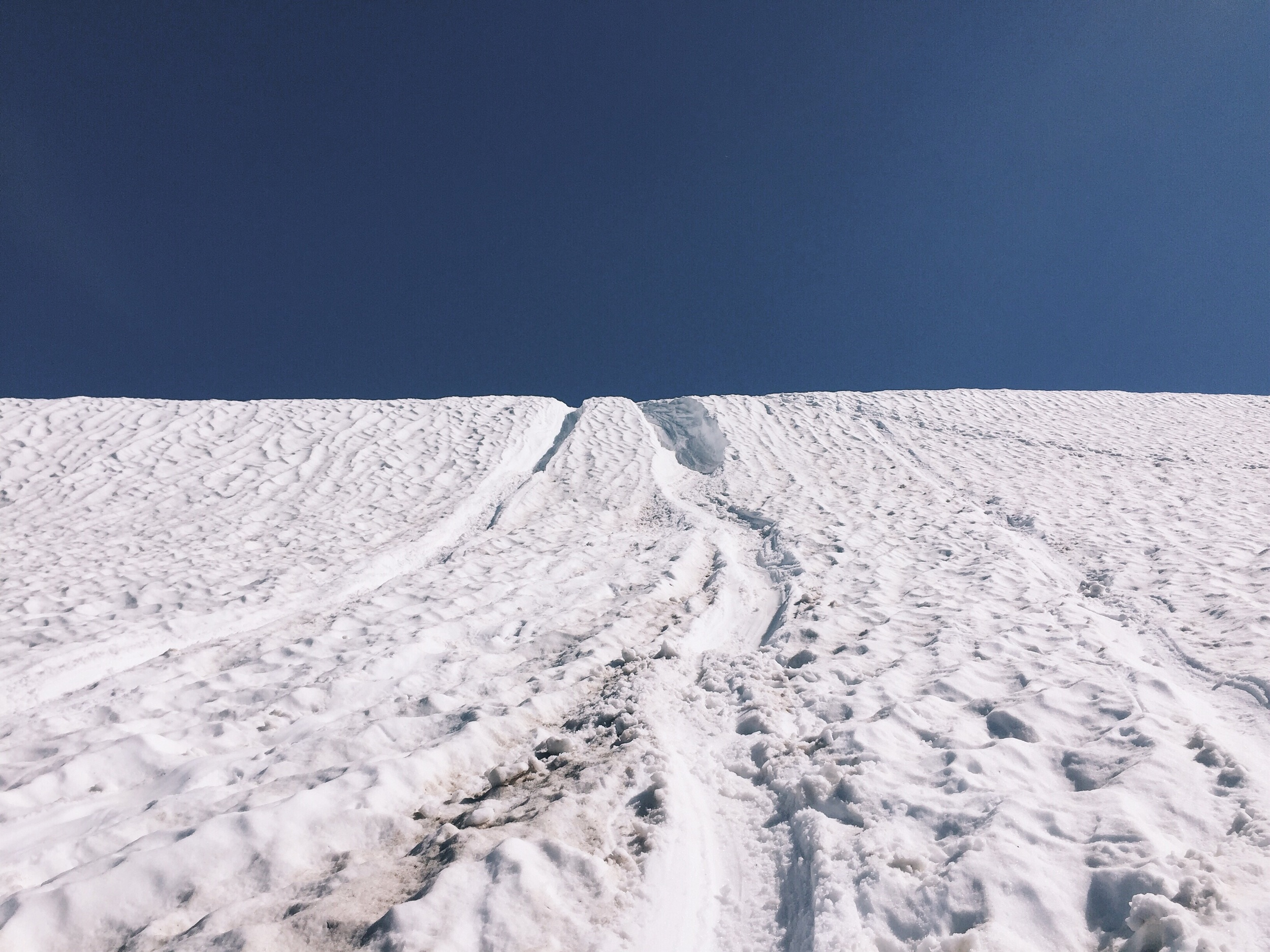 Went down this glissade. It was a little steep!