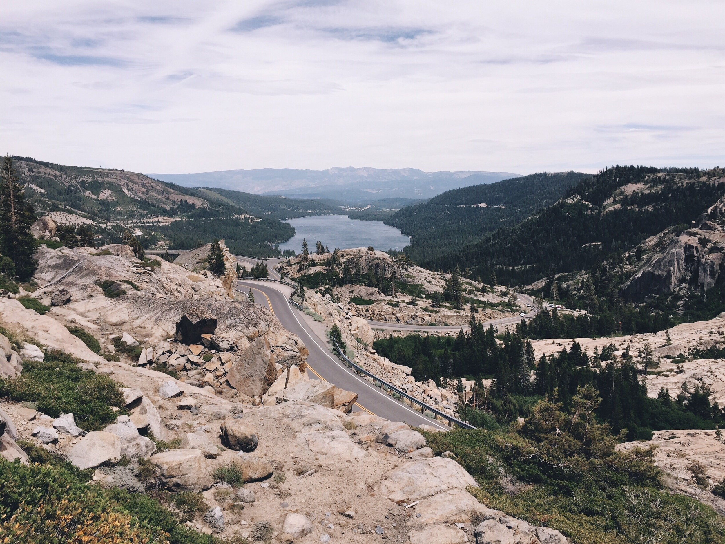 Donner lake down there.