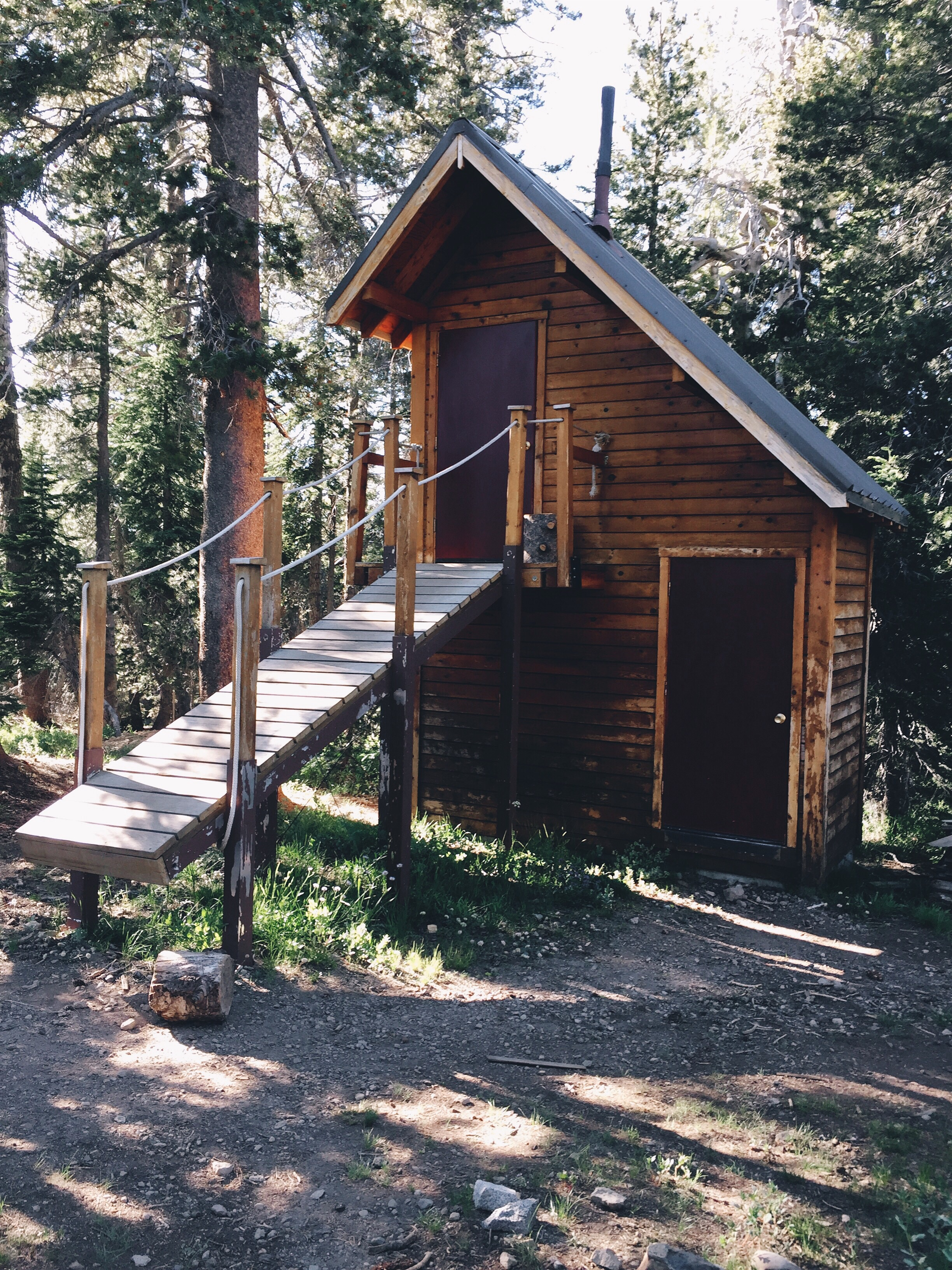 The two story outhouse.