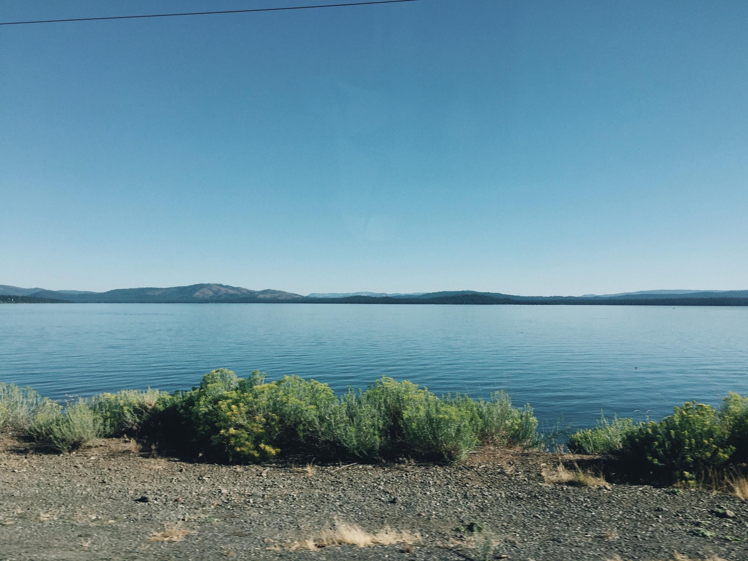 Lake almanor so peaceful.