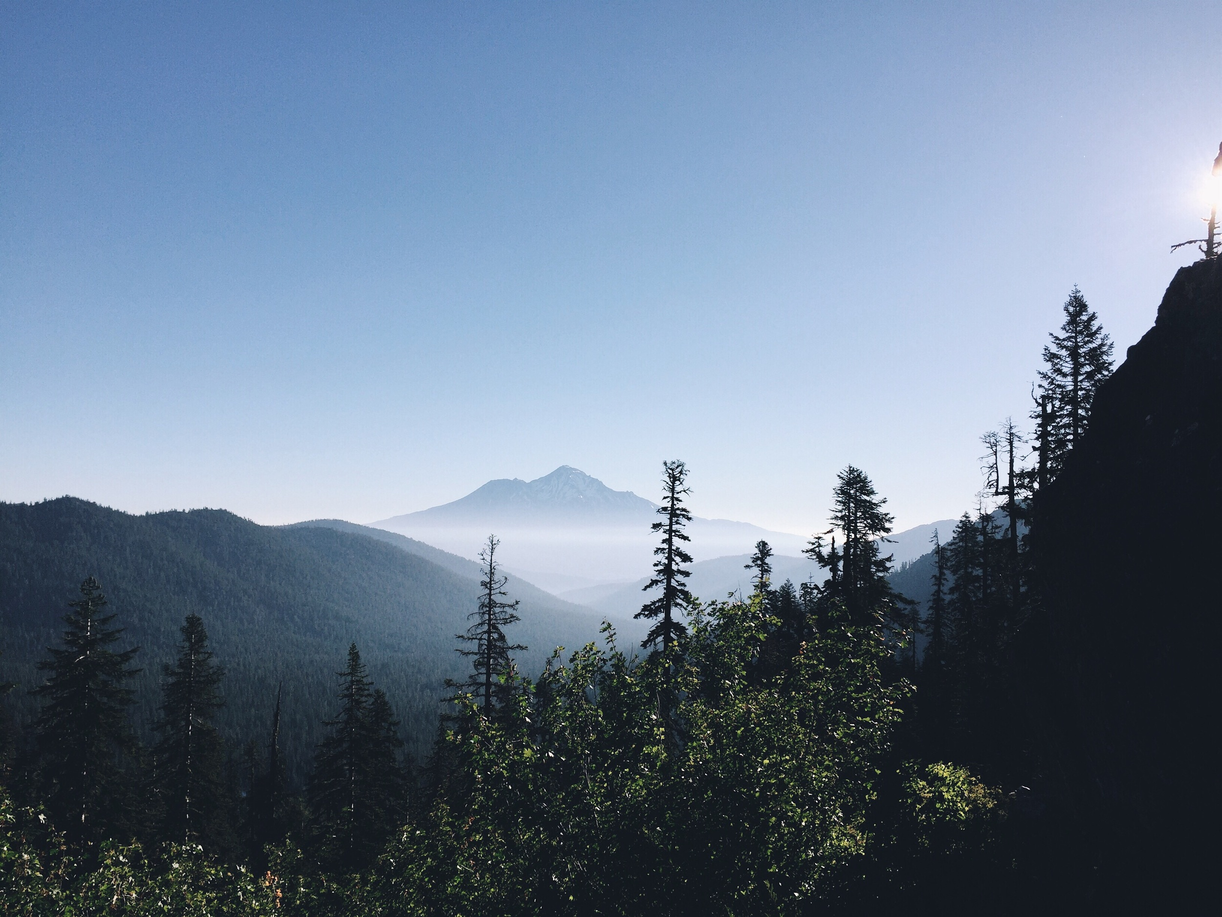 Pretty Shasta in the haze.