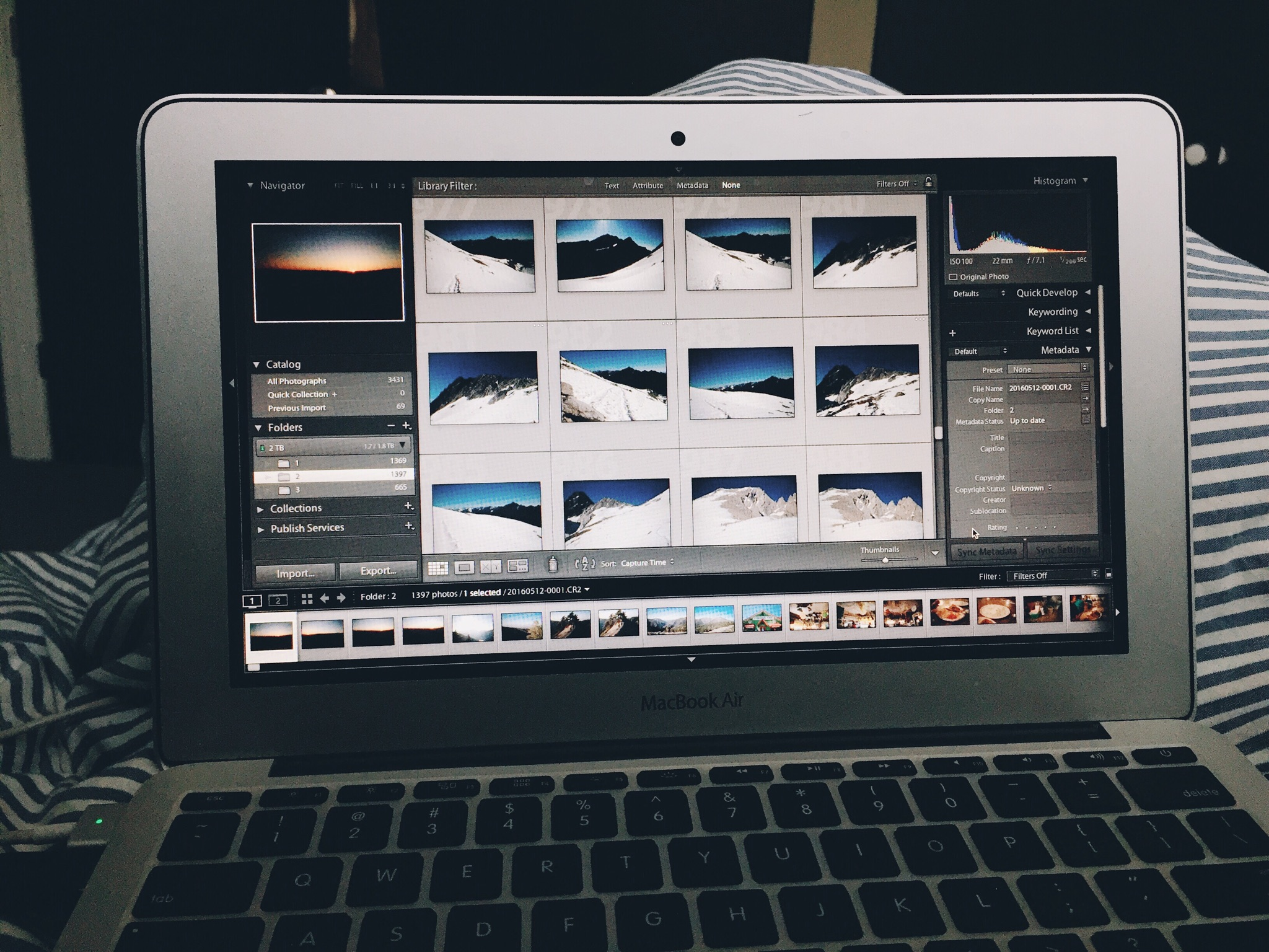 What most of my time is consumed by: sorting through all of my raw images.