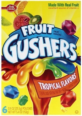 Gushers were fun and reminded you of elementary school and the only time you can really eat them as an adult. They were messy, exploded everywhere and melted but no worries.