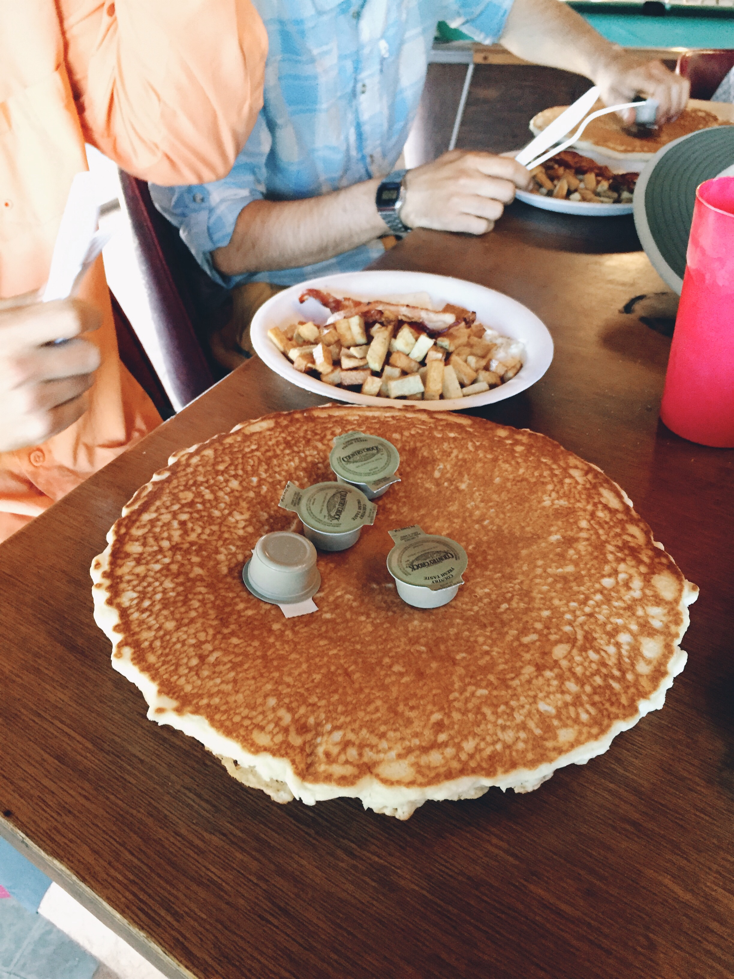 Pancake bigger than your face at Grumpy's in KM.