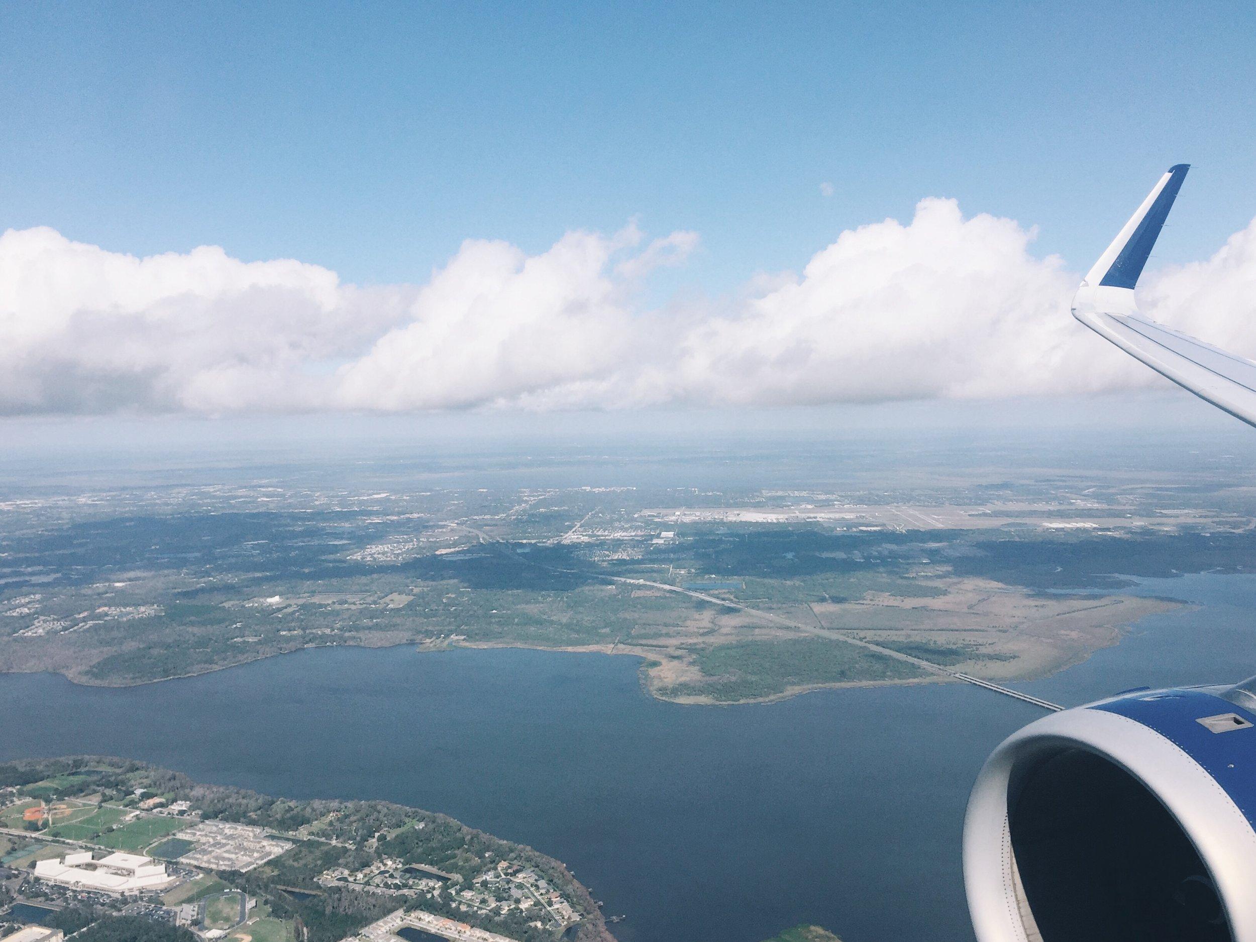Landing in Florida.