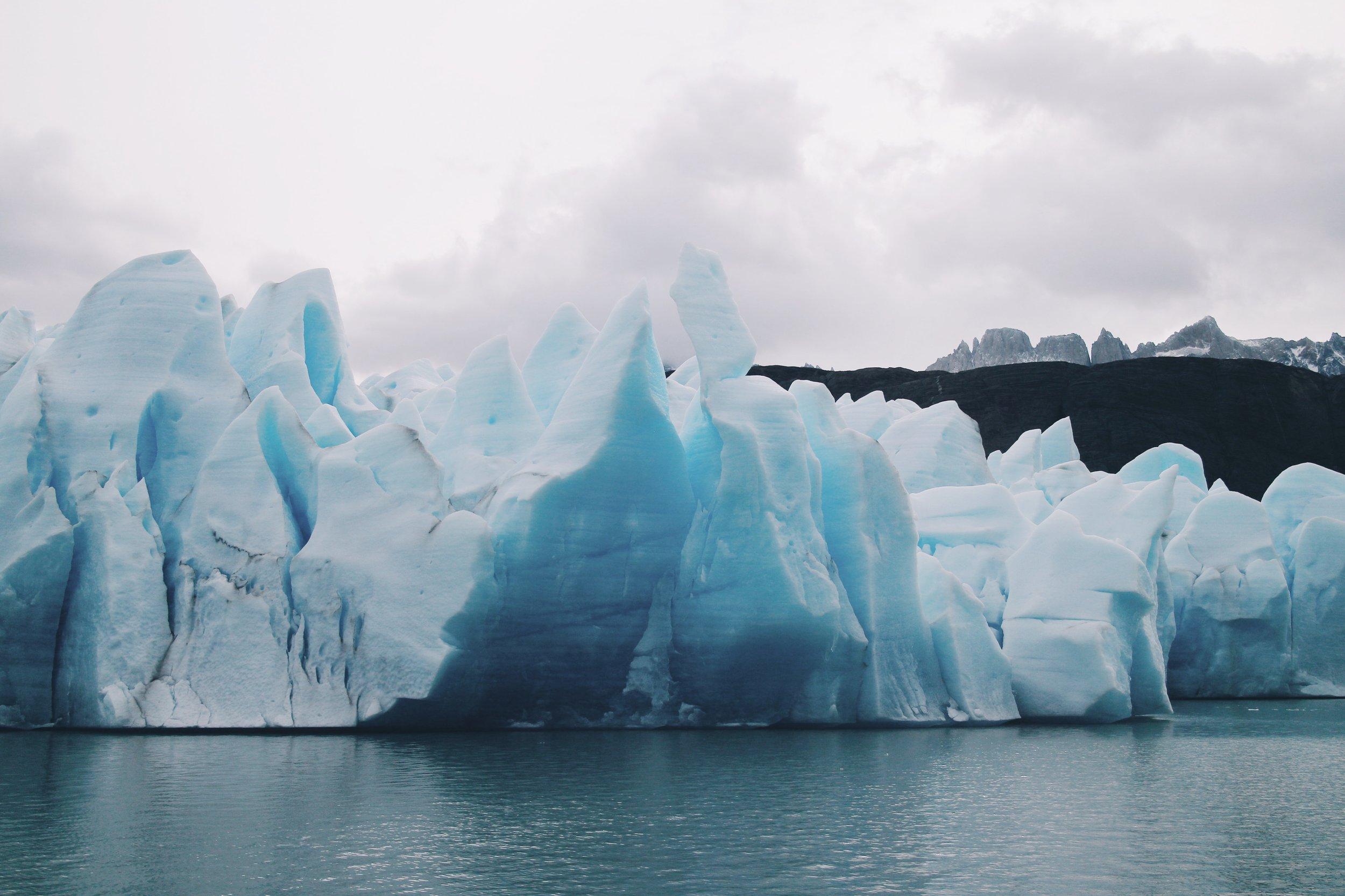 HUGE glacier.