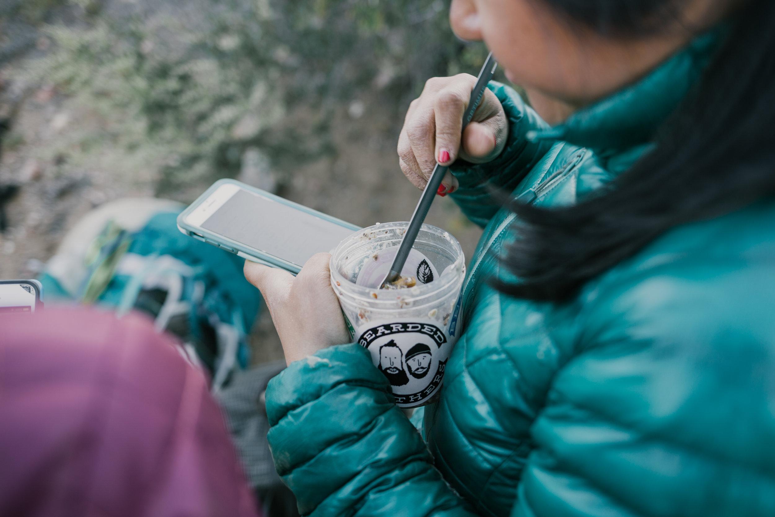 Multitasking: eating and blogging, jk. Photo by: Nate/Meg