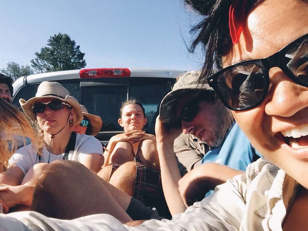How many people can you fit into the back of a pickup?