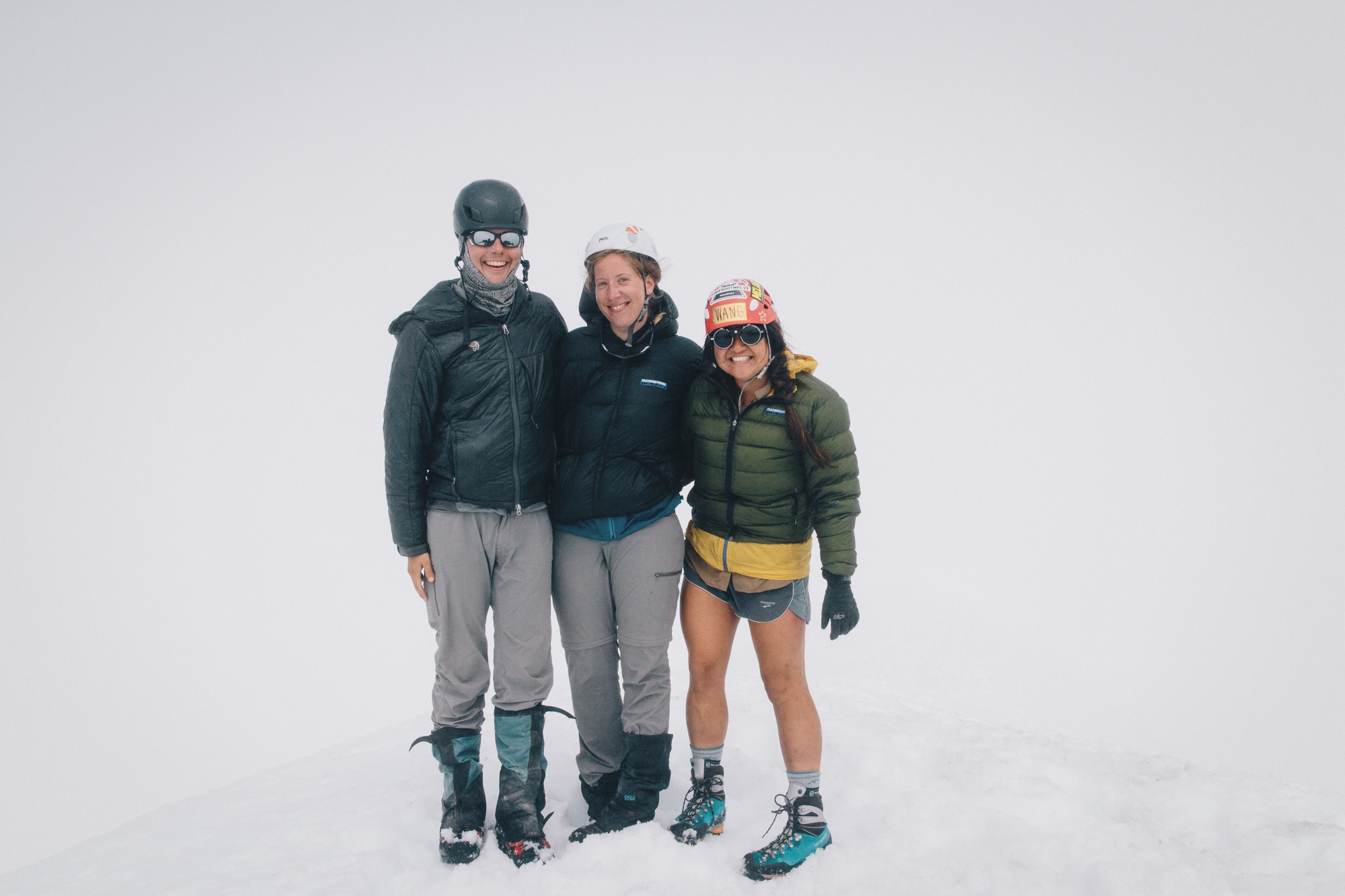 Shawn, Nikki and I at the summit! It wasn't actually this cloudy, they were coming in and out super fast.