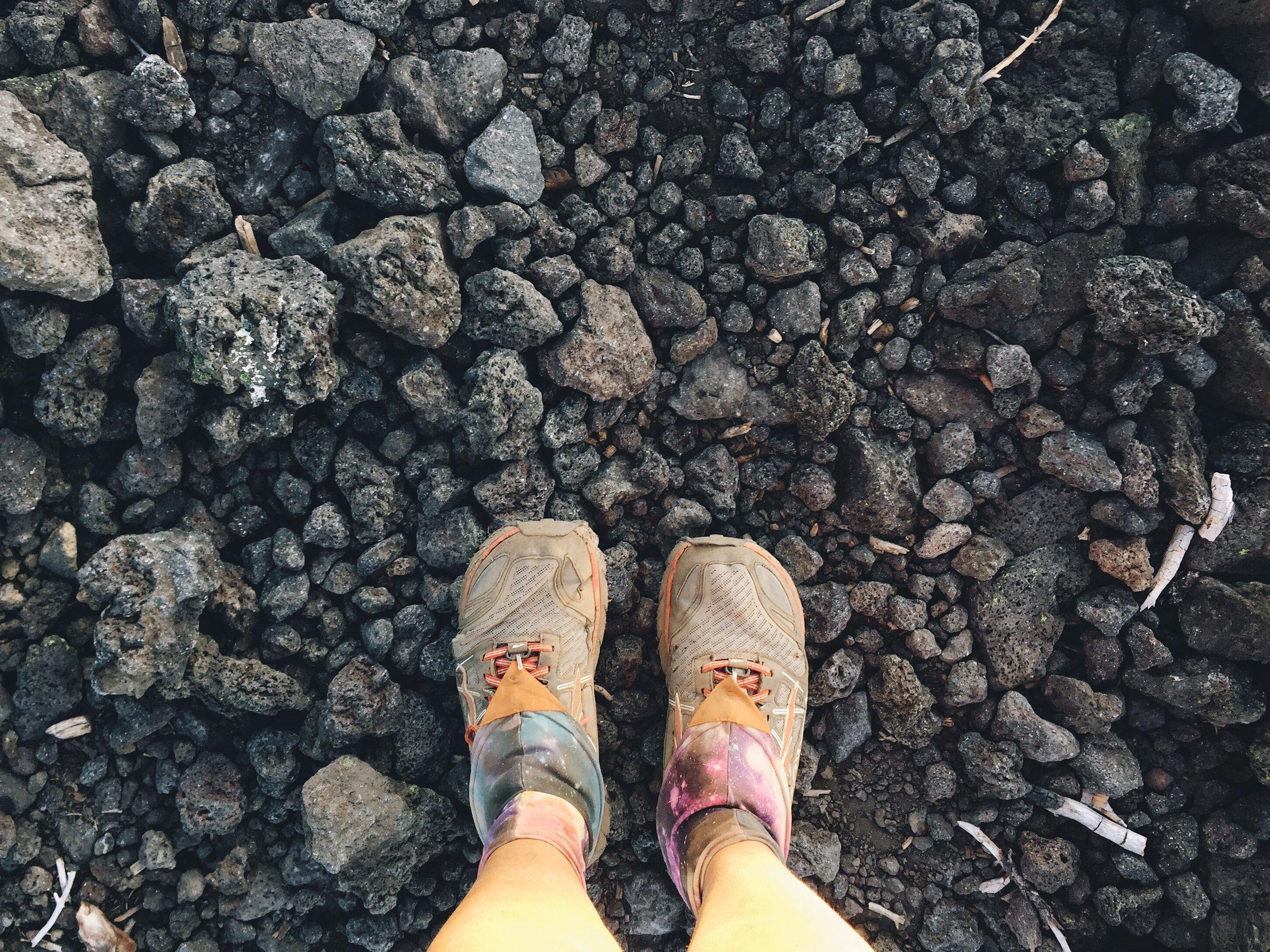 the lava rocks weren't too bad