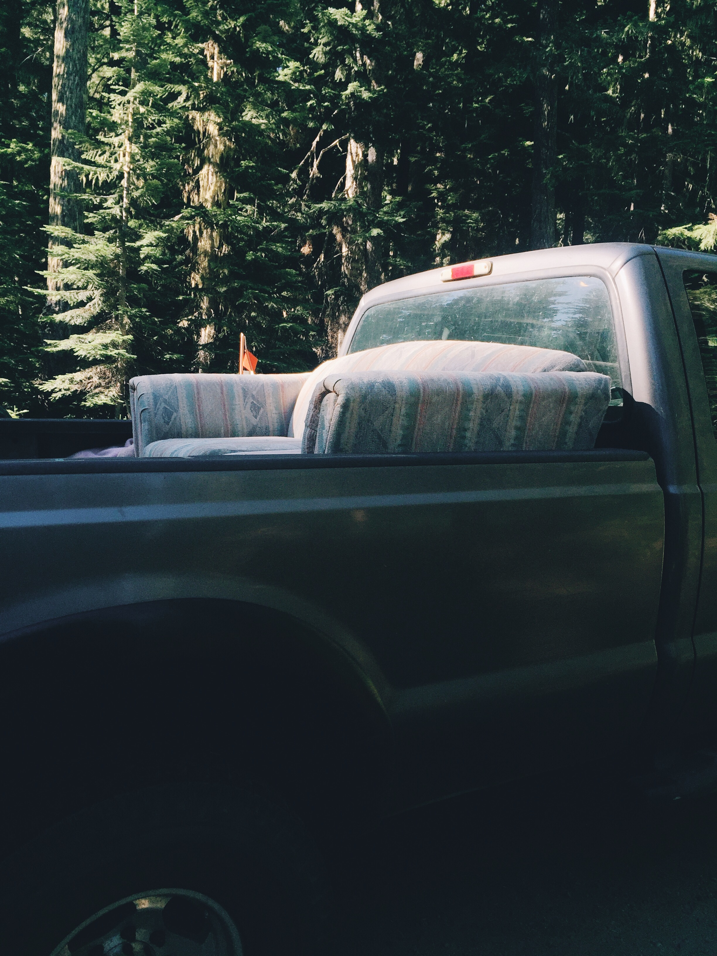 Gary's truck w the couch in the back