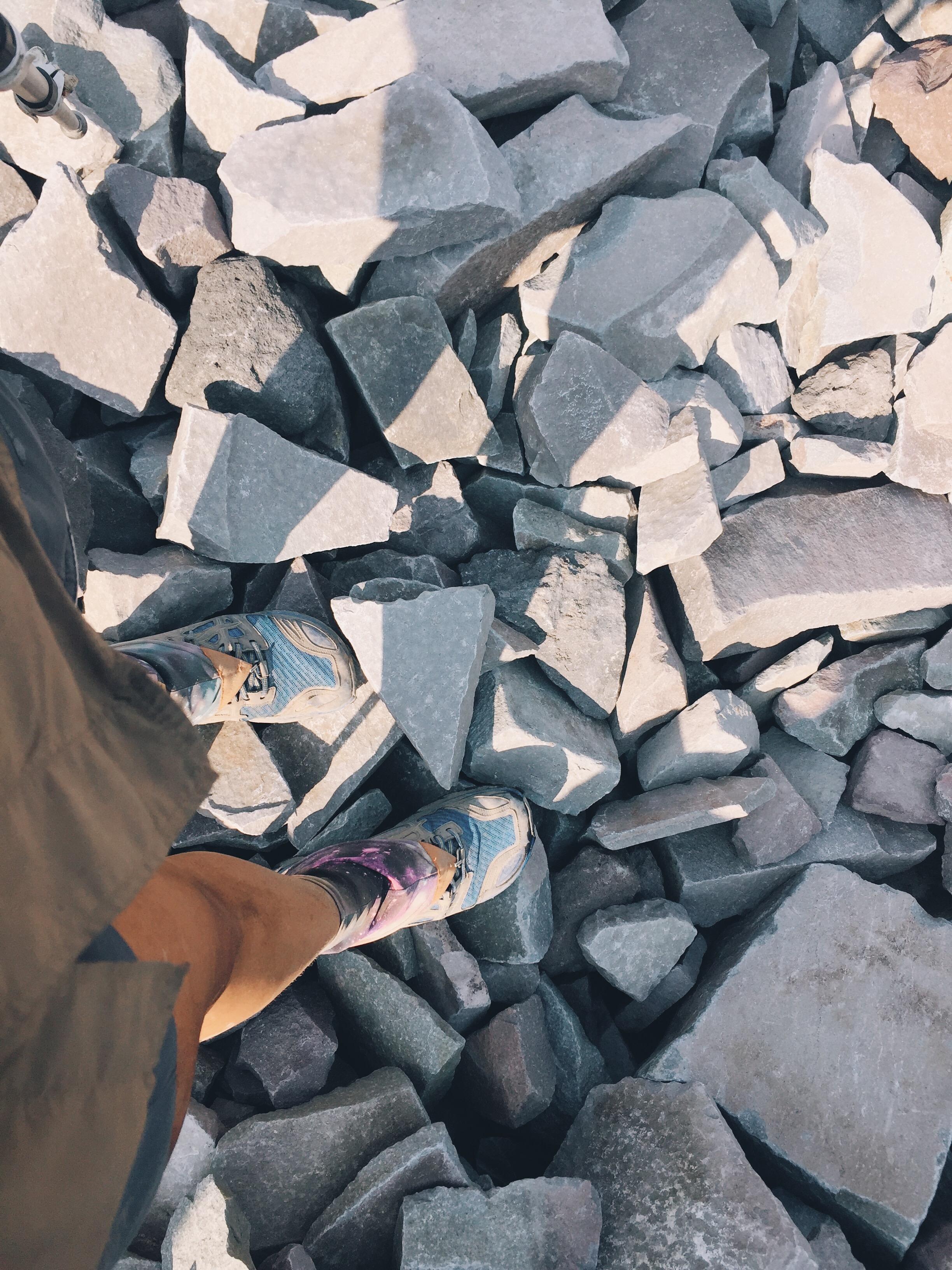 rocks shaped as goats