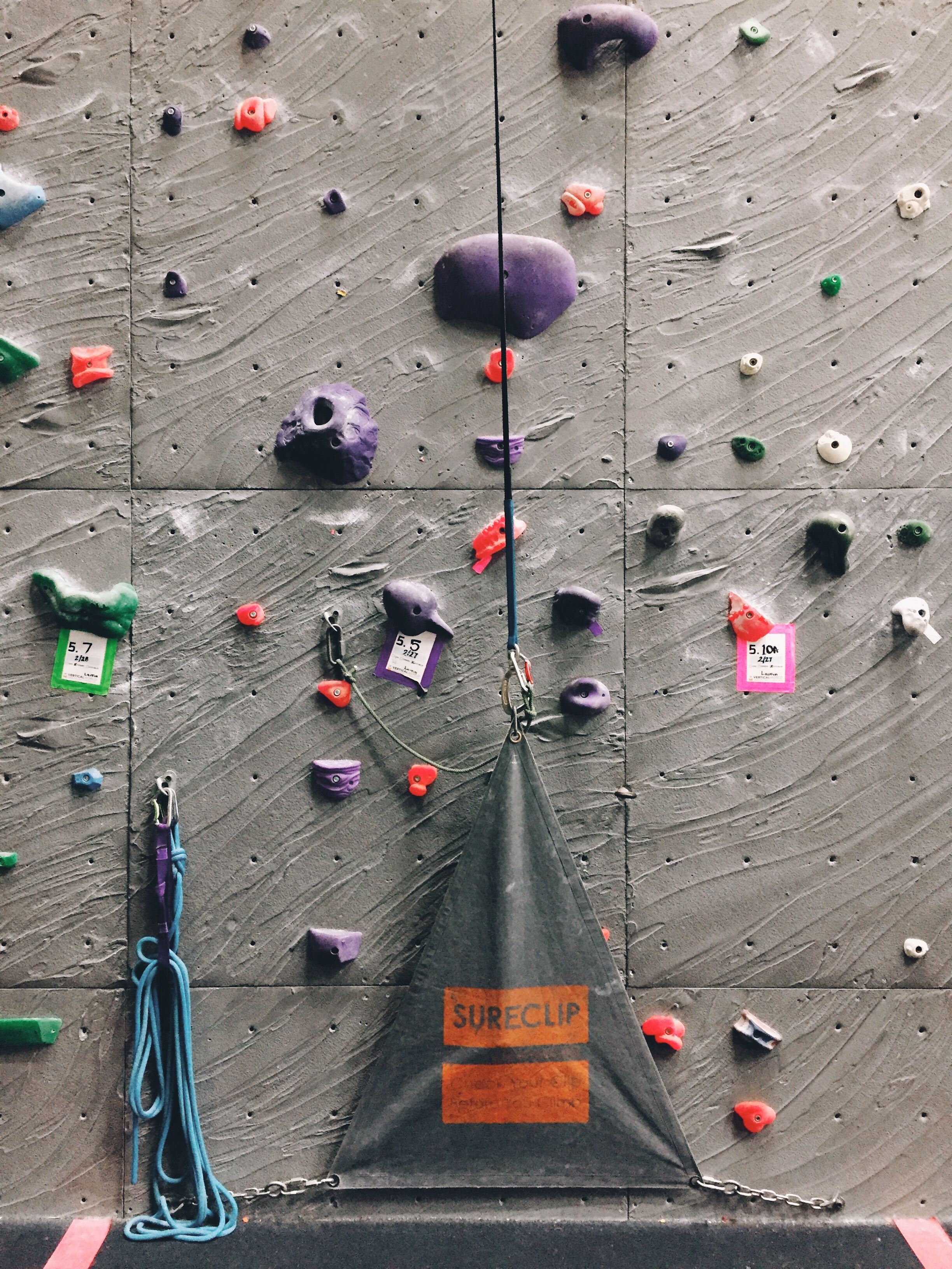 I went to the gym 3-4 times a week to practice on auto belay. I even climbed in my boots till I was finally trusting my feet and was able to climb 5.9's smoothly at the gym, with my boots. I was finally ready for the Tooth, I think.