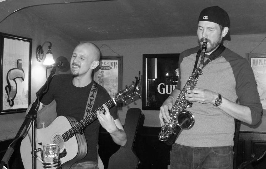 M. Curley and Brian Bottomley at Mr. Dooley's in Wrentham, MA