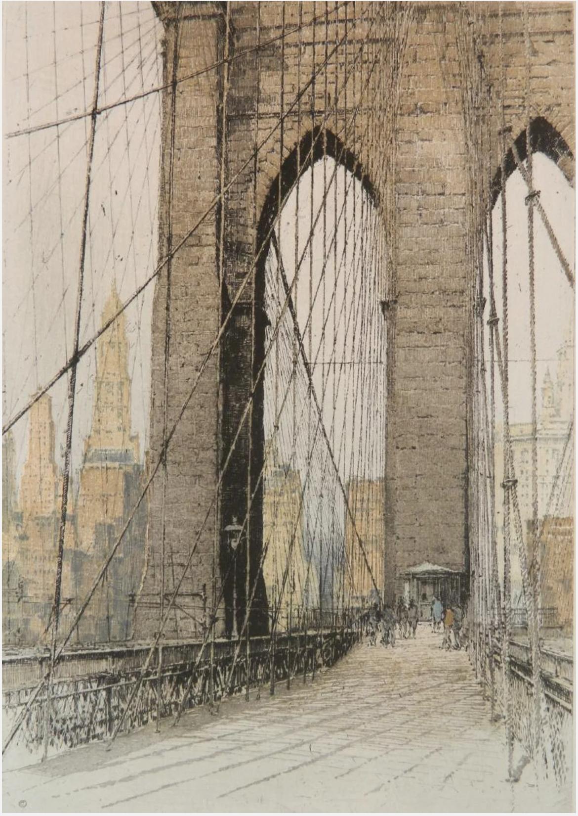 "Luigi Kasimir ""Brooklyn Bridge, Cable Bridge""(1-4)"