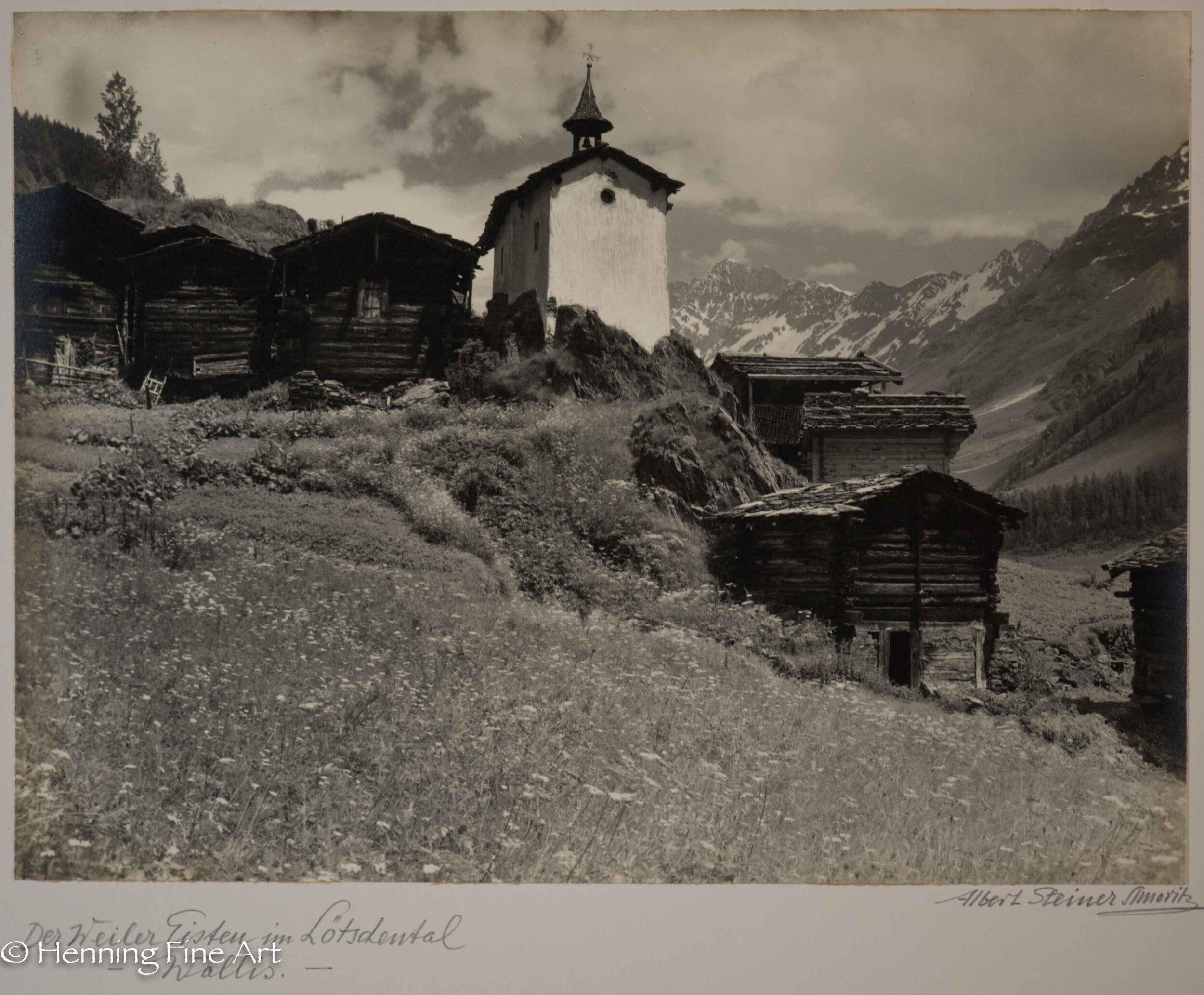 """Albert Steiner (1877 - 1965) """"Der Weiler Eisten im Lotschental - Wallis. -""""  Image (3-5)"""