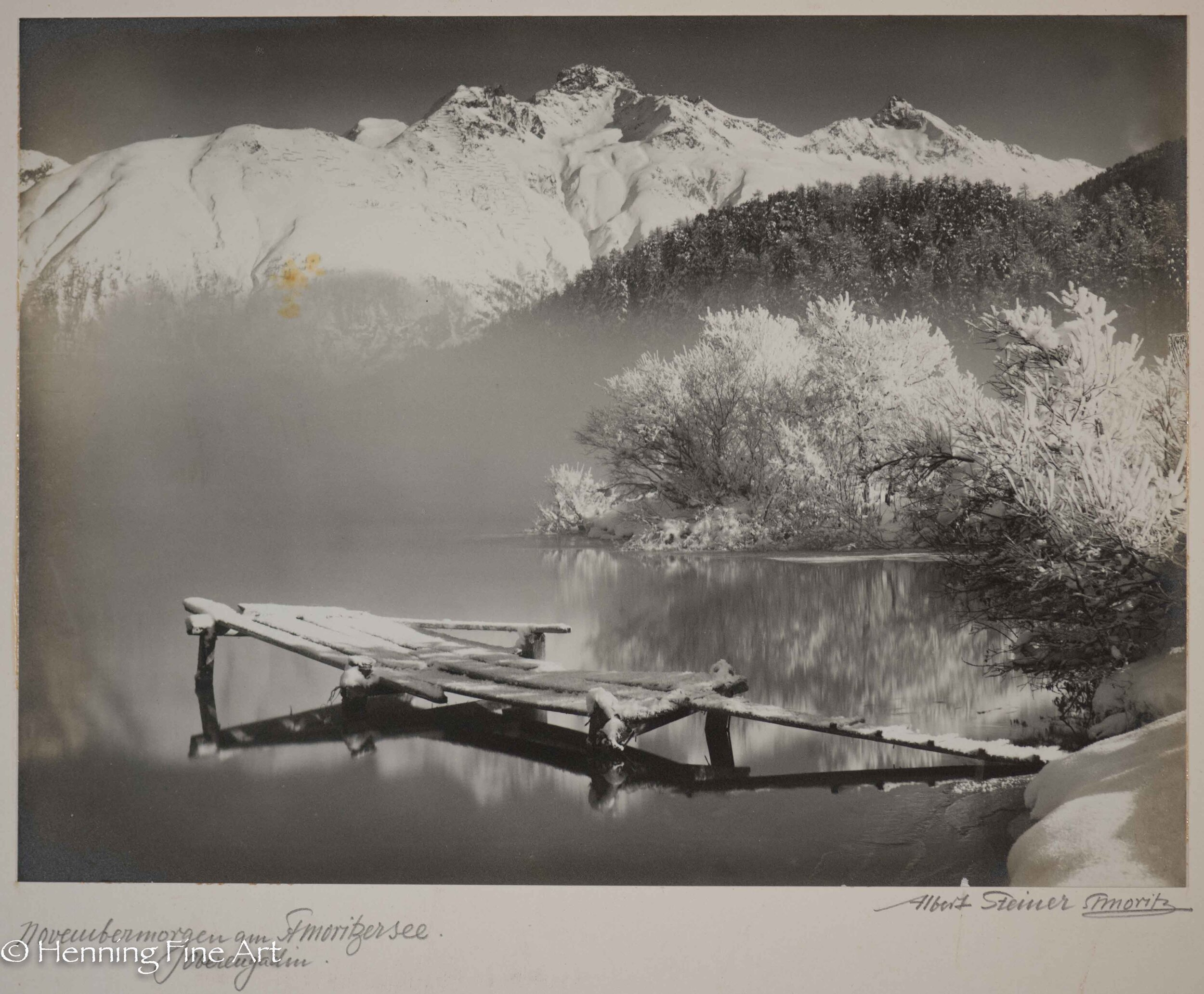 "Albert Steiner (1877 - 1965) ""Novembermorgen am St. Moritzersee. Oberengadin.""  Image (4-4)"