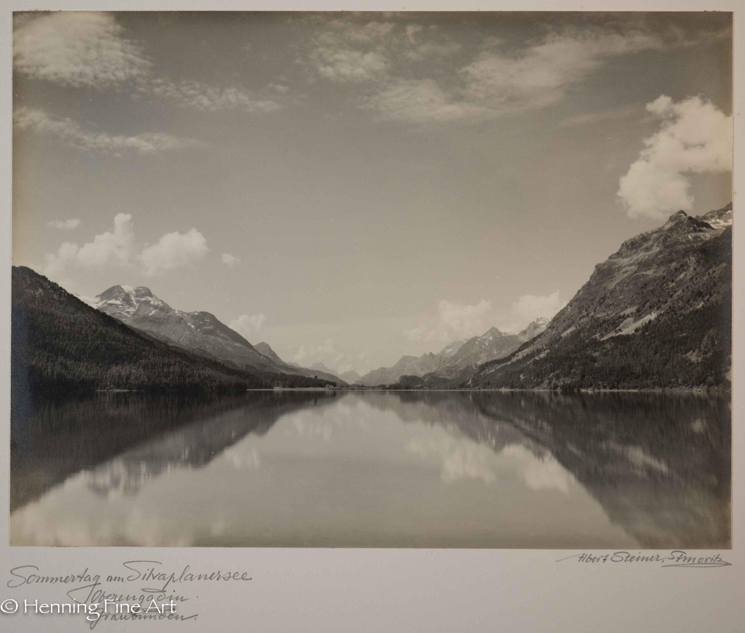 """Albert Steiner (1877 - 1965) """"Sommertag am Silvaplanersee Oberengadin Graubunden.""""  Image (5-1)"""