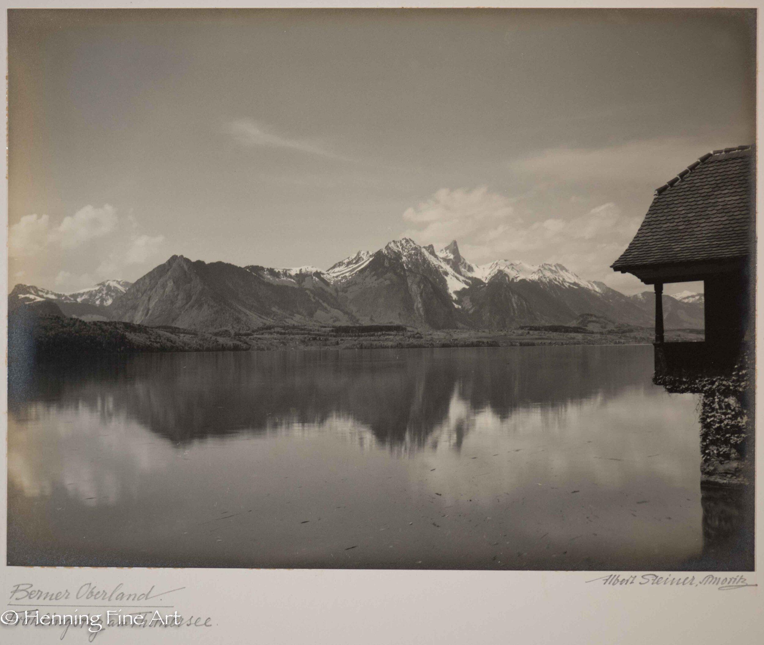 "Albert Steiner (1877 - 1965) ""Berner Oberland. Fruhling am Thunersee.""  Image (5-2)"