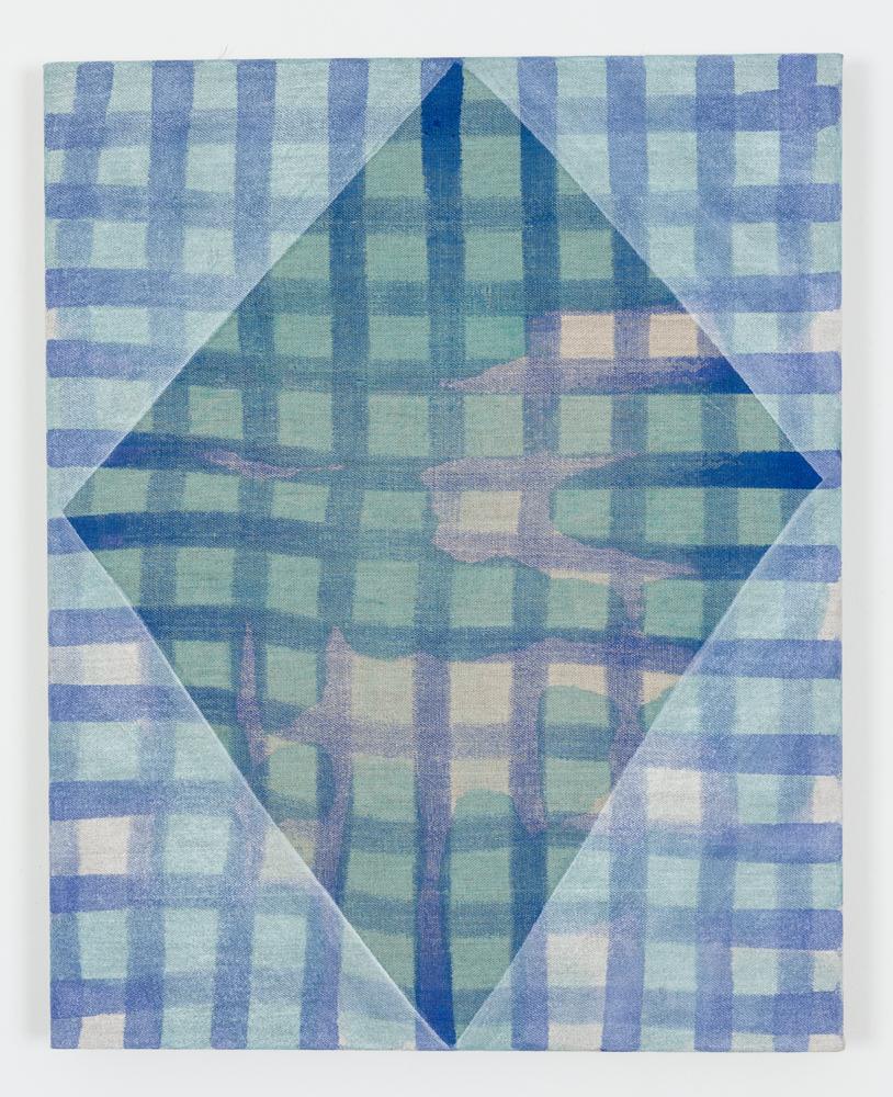 "Untitled, Acrylic on Unprimed Linen, 30"" x 24"", 2015"
