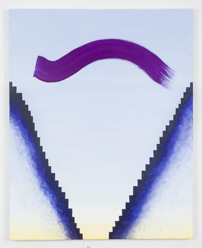 """Untitled (Raised Eyebrow 1), Oil on Canvas, 60"""" x 48"""", 2015"""
