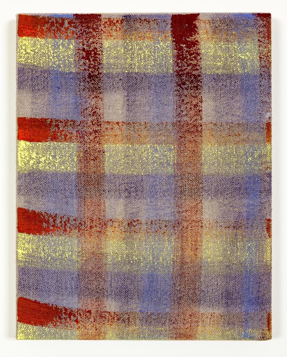 "Untitled, Oil on unprimed linen, 14""x11"", 2015"