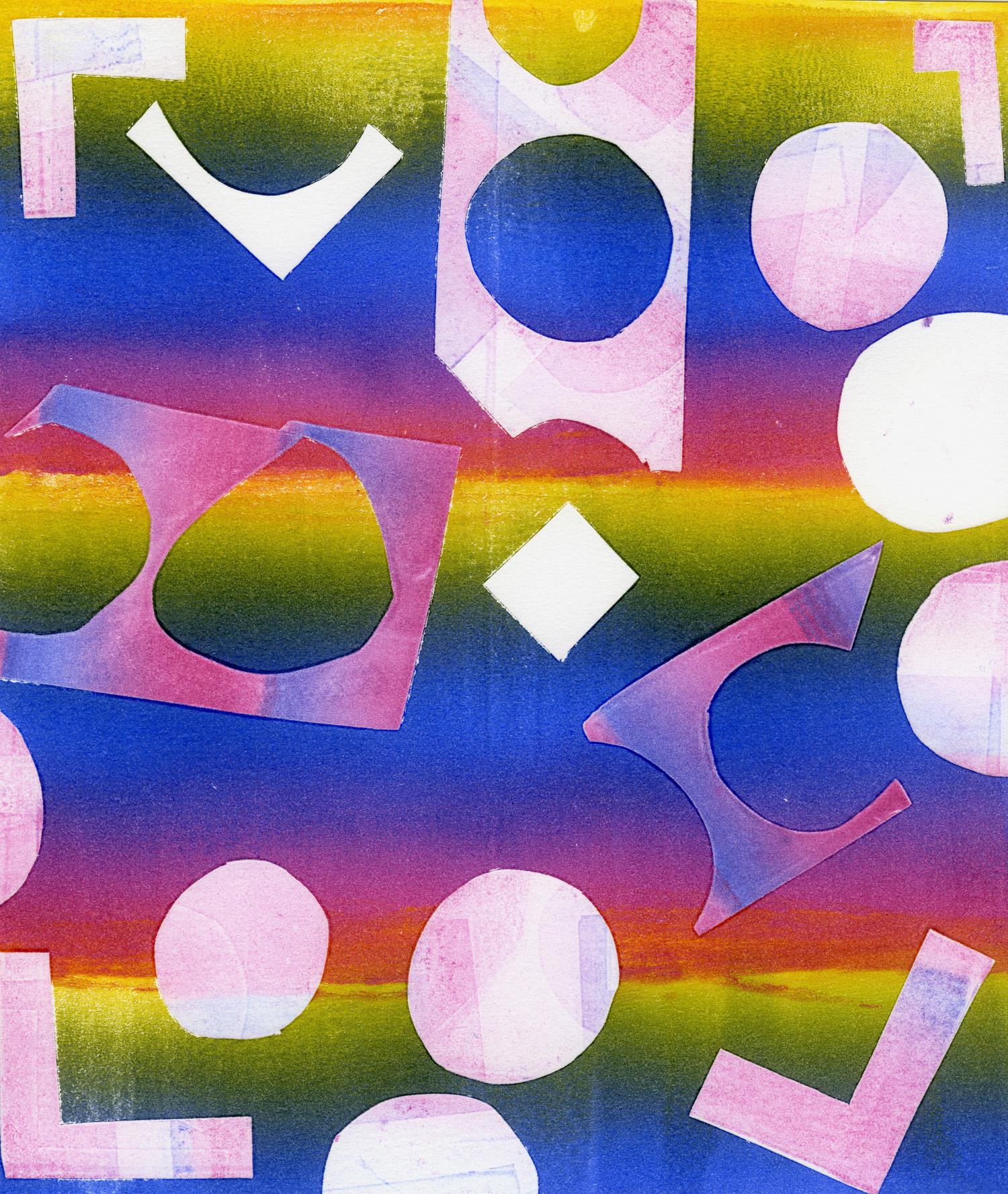 Untitled Rainbow Stripes