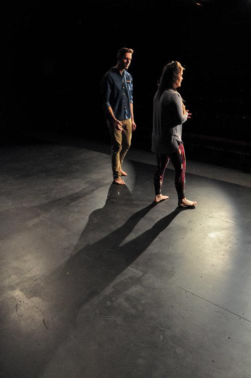"Nolan Henningson and Sadie Coffey in ""Circle Mirror Transformation.""    Photo Credit:C. Danielle Deal"