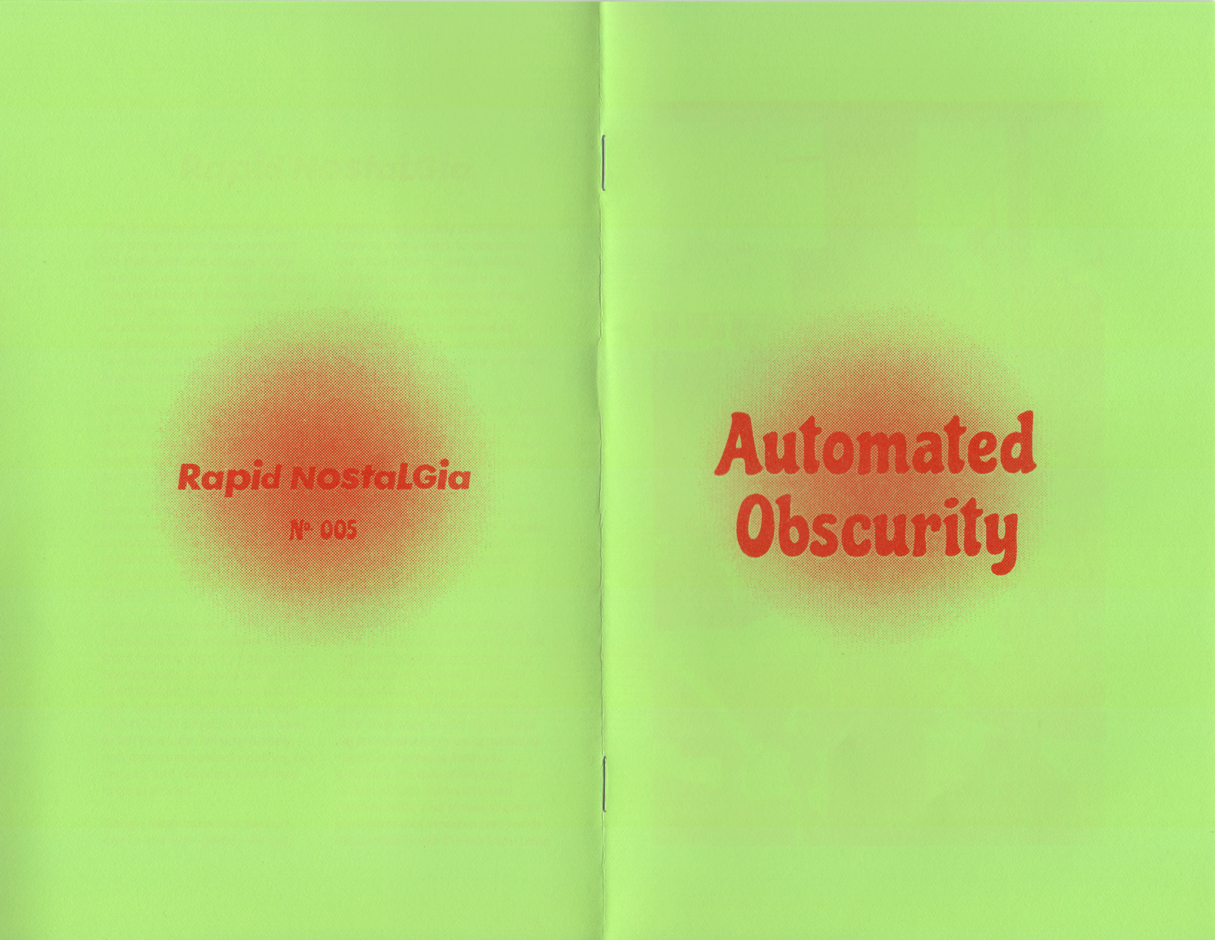 Coming Soon: Automated Obscurity - Rapid Nostalgia No. 005