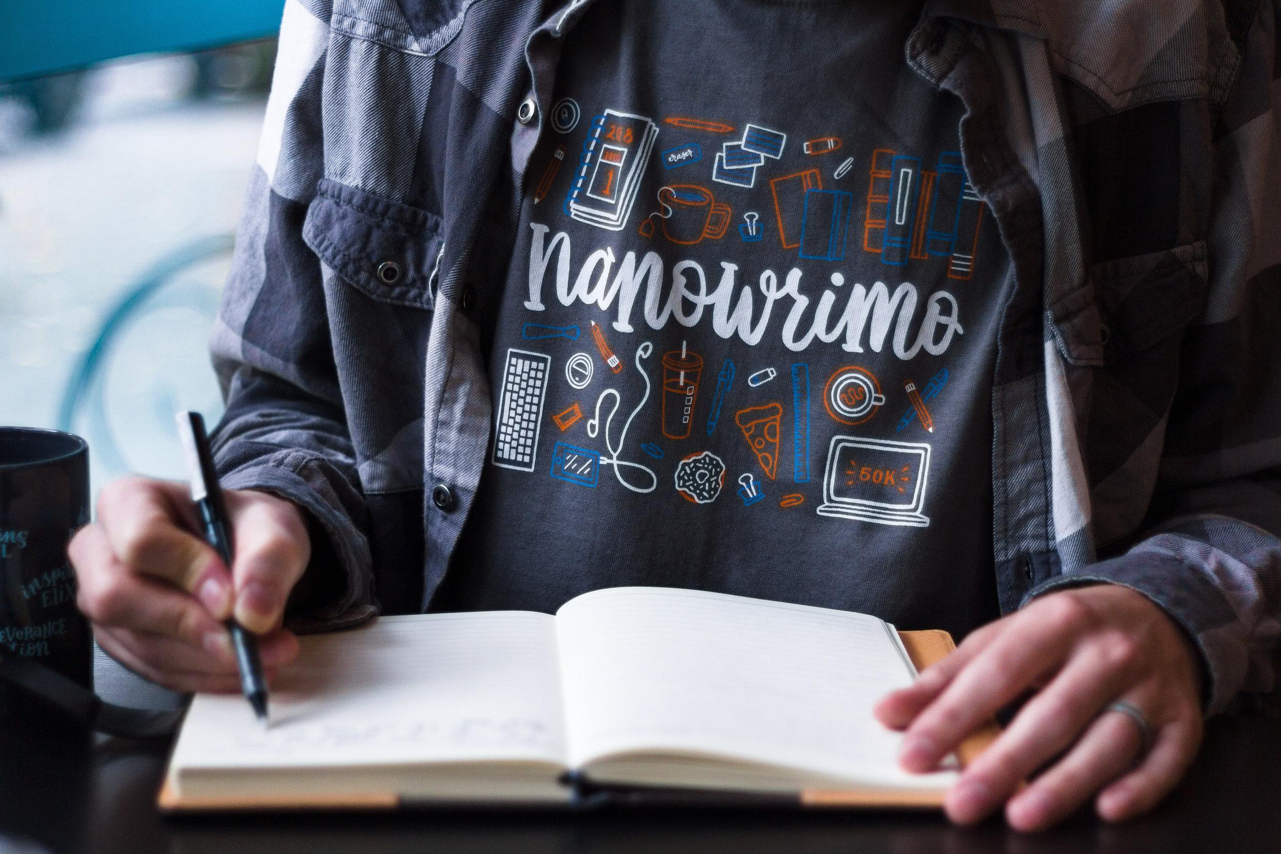 National Novel Writing Month t-shirt