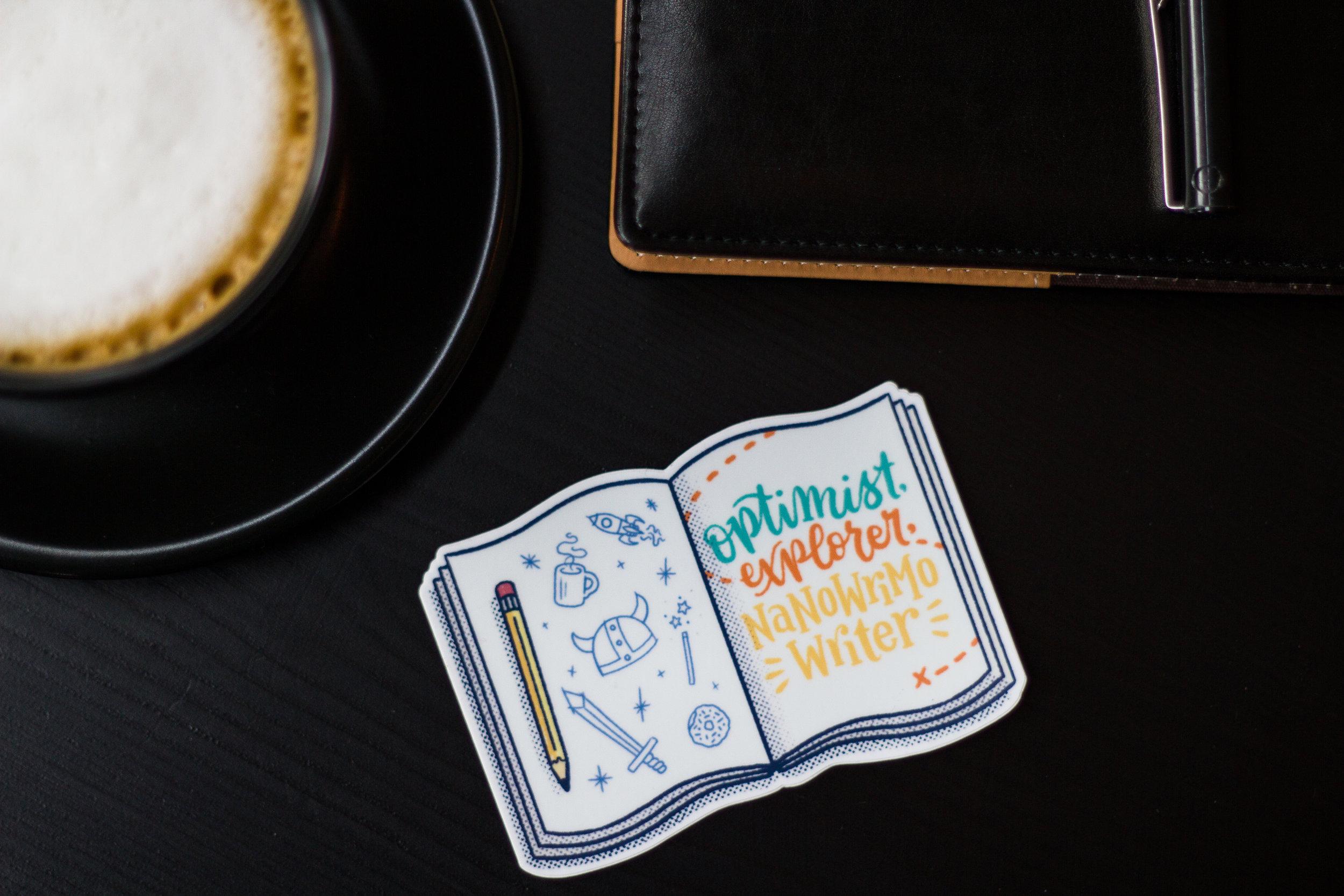 National Novel Writing Month Sticker