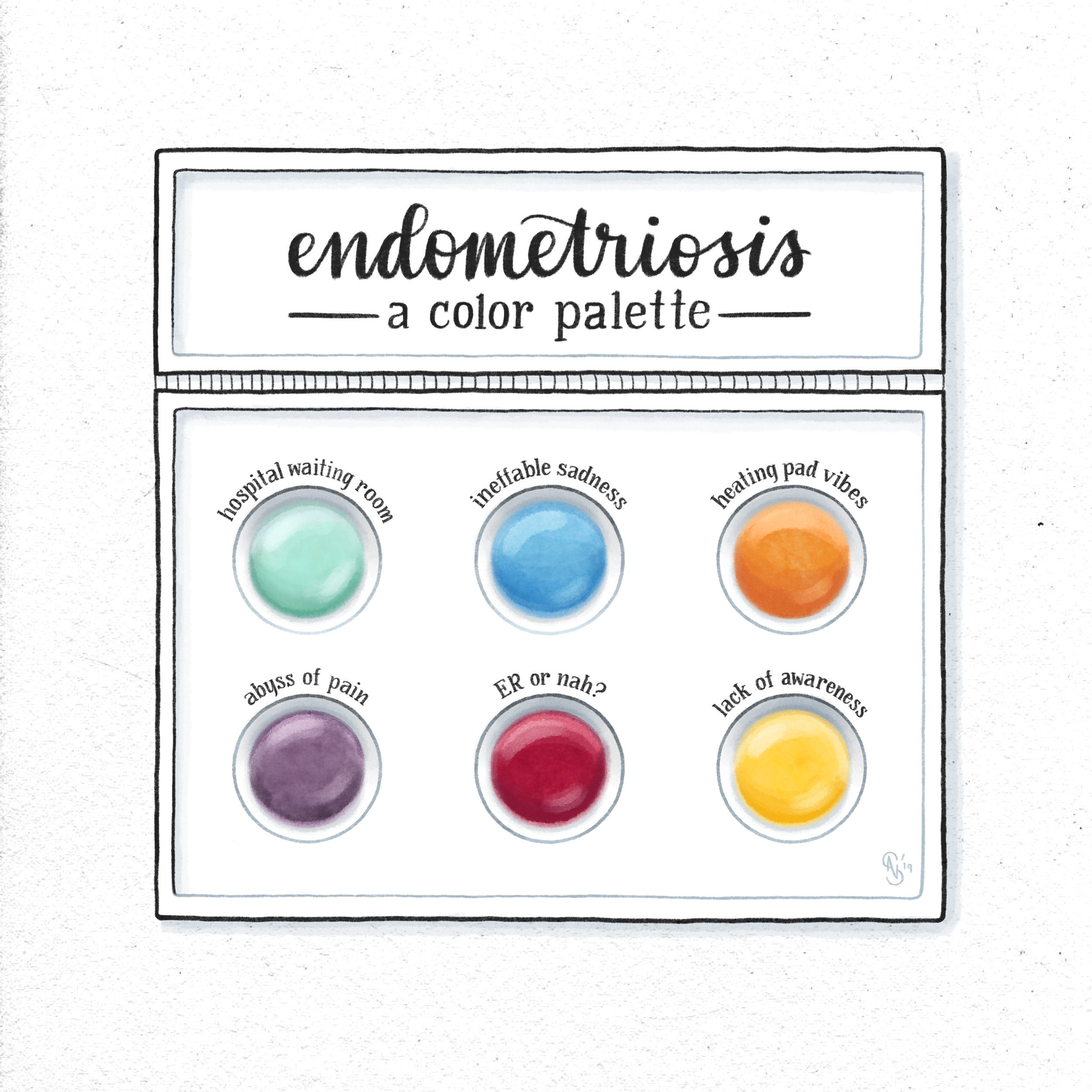Endometriosis color palette