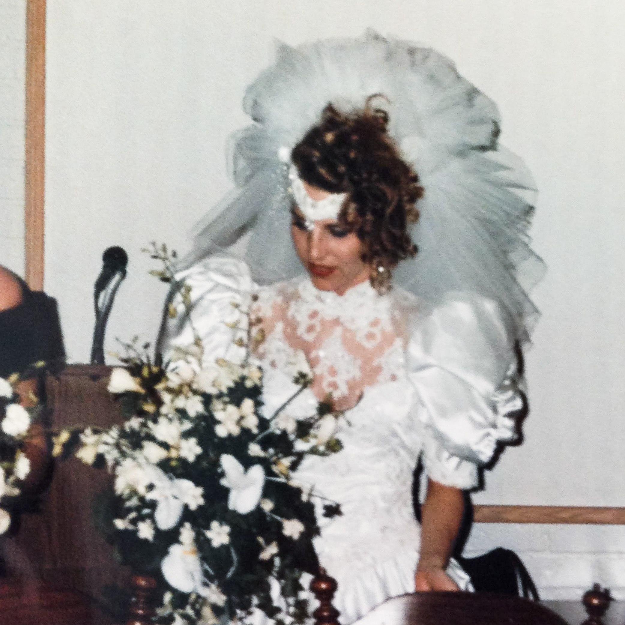 My aunt at her wedding in the 80s