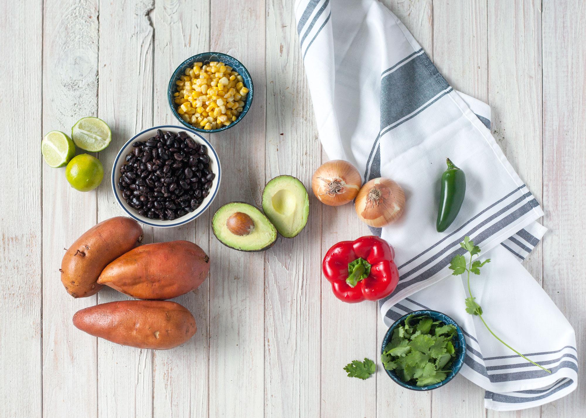 Mexican Inspired Stuffed Sweet Potatoes // Natural Girl Modern World // Vegan & Gluten Free