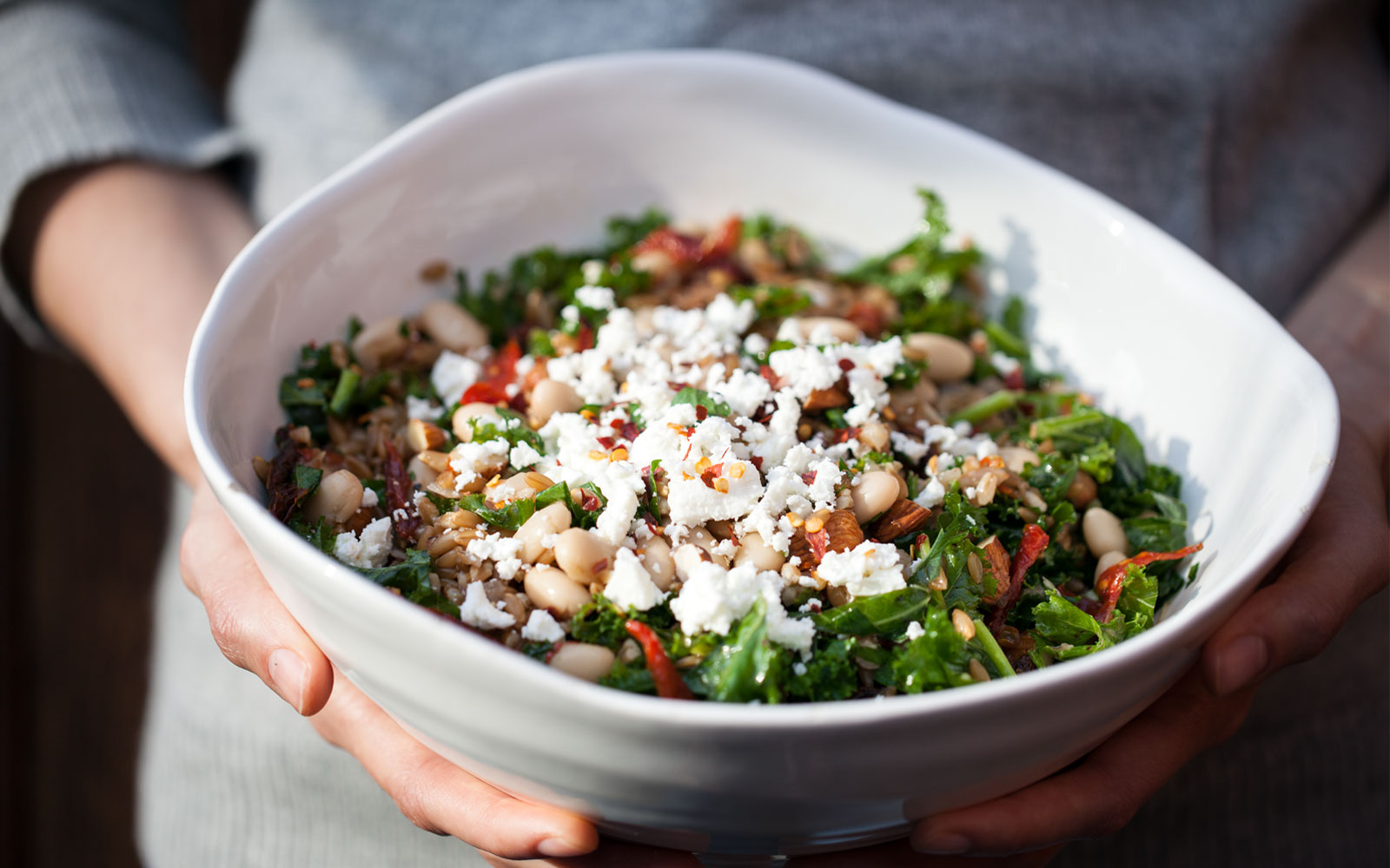 Farro Pilaf with Mushrooms, White Beans and Kale // Natural Girl Modern World // Vegetarian