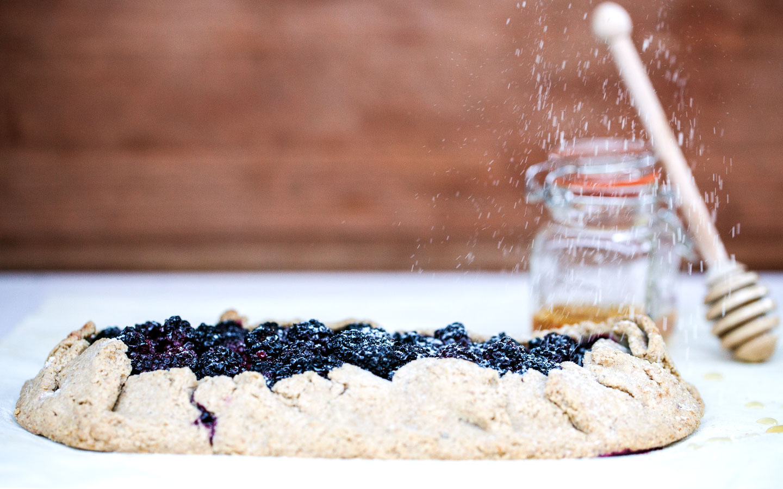 Rustic Blackberry Tart // Natural Girl Modern World // Gluten Free