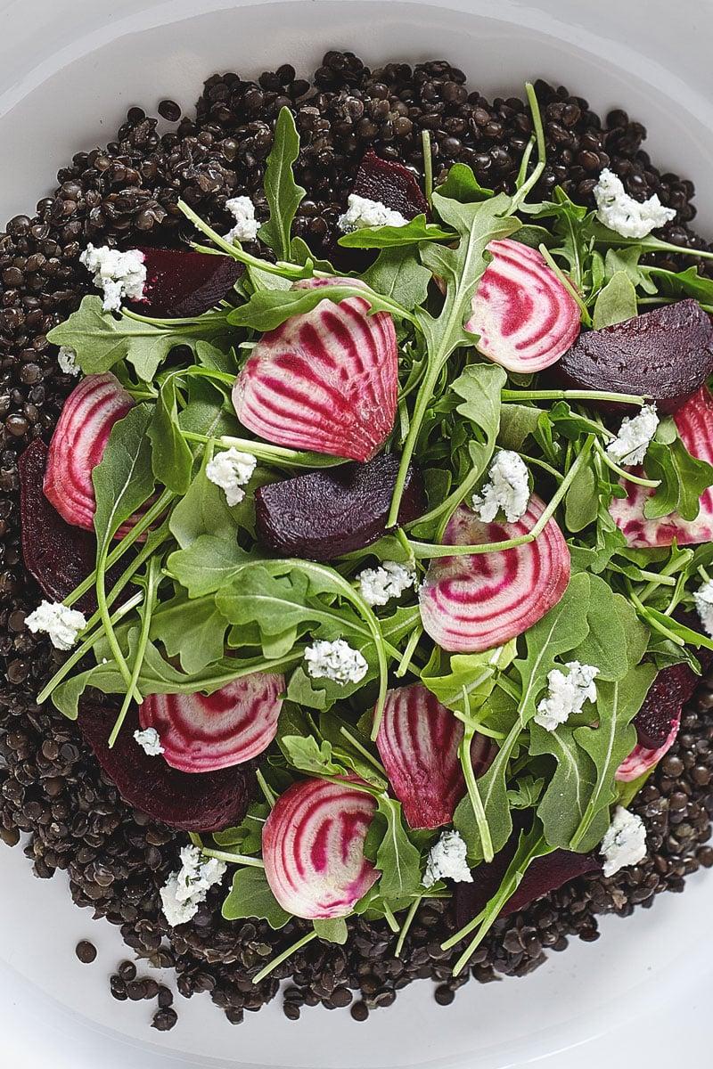Beet & Lentil Salad with Herbed Goat Cheese // Natural Girl Modern World // Vegetarian & Gluten Free