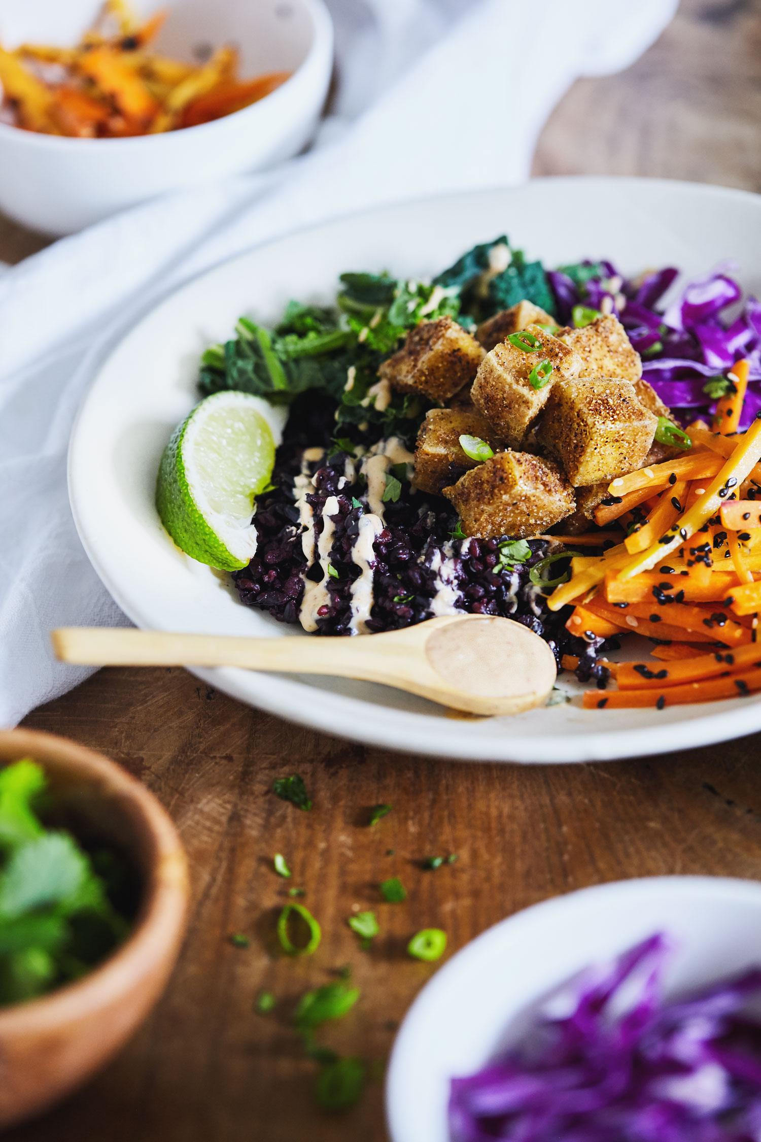 Forbidden Rice Buddha Bowl with Crispy Tofu // Natural Girl Modern World // Vegan & Gluten Free