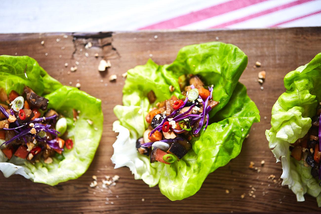 Asian Mushroom Lettuce Wraps // Natural Girl Modern World // Vegan & Gluten Free