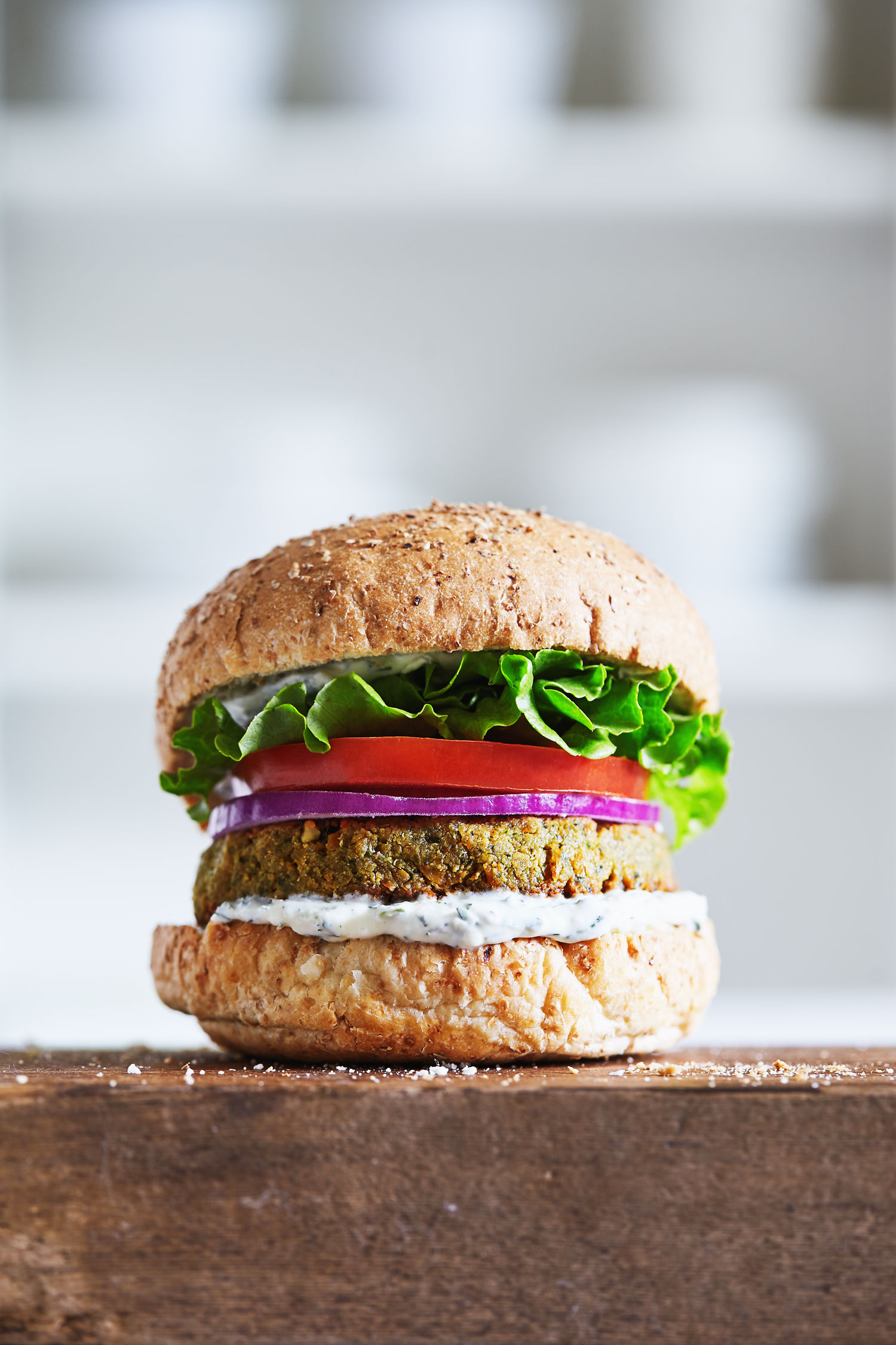 Falafel Tahini Burgers with Tzatziki Sauce // Natural Girl Modern World // Gluten Free