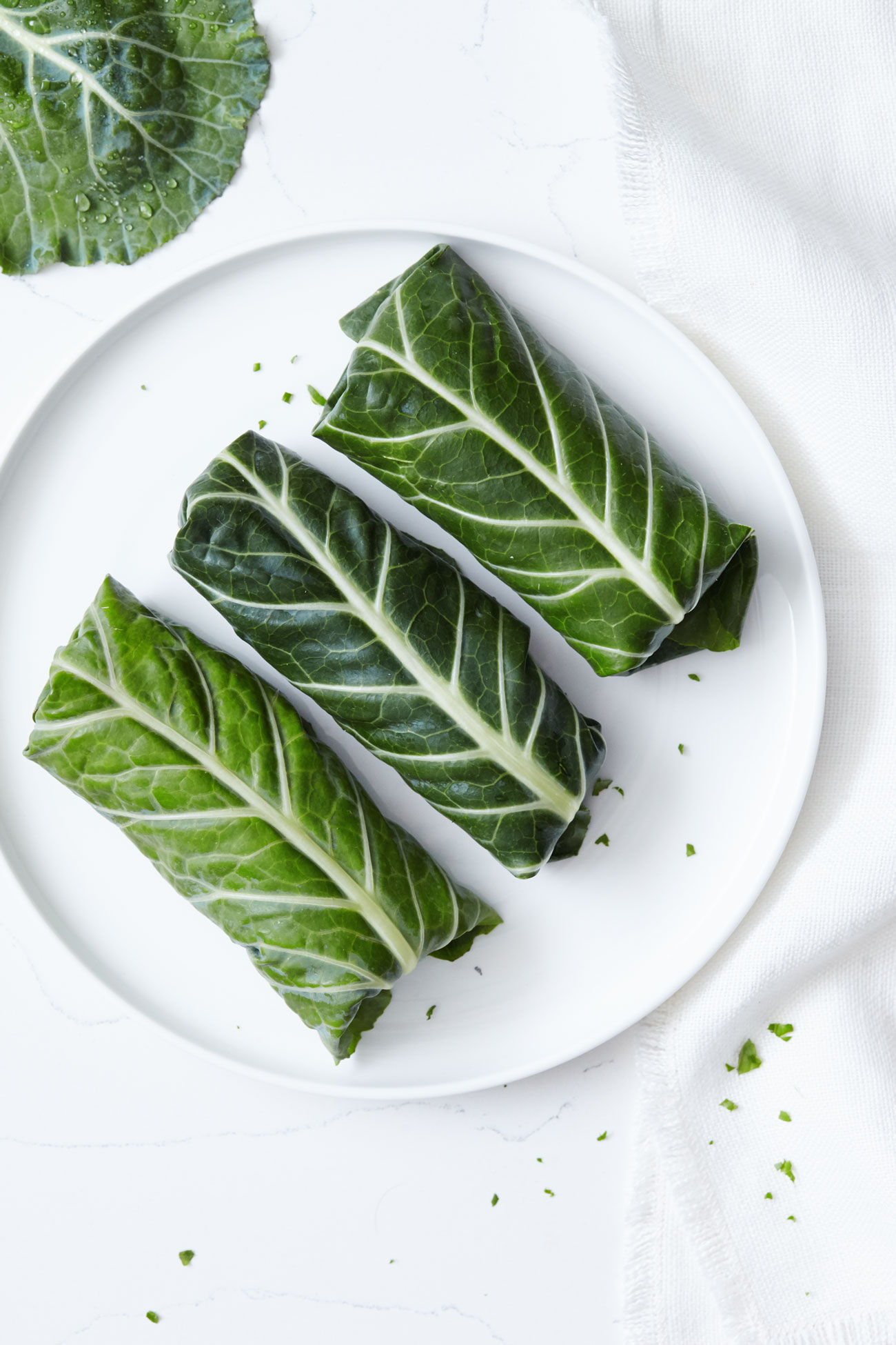 Greek Collard Green Wraps with Vegan Tzatziki // Natural Girl Modern World // Vegan & Gluten Free