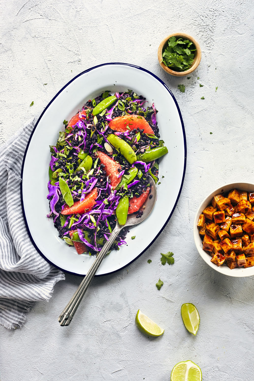Asian Black Rice Salad // Natural Girl Modern World // Vegan & Gluten Free