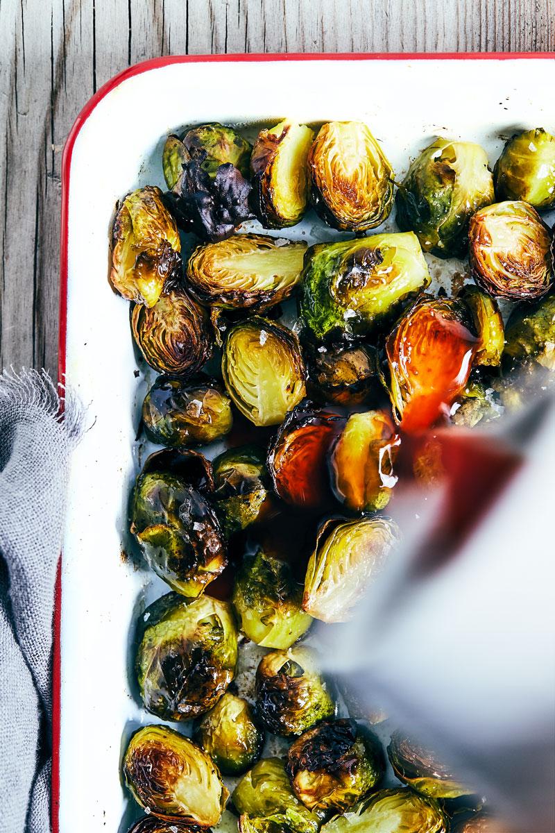 Maple Sriracha Brussels Sprouts // Natural Girl Modern World // Vegan & Gluten Free