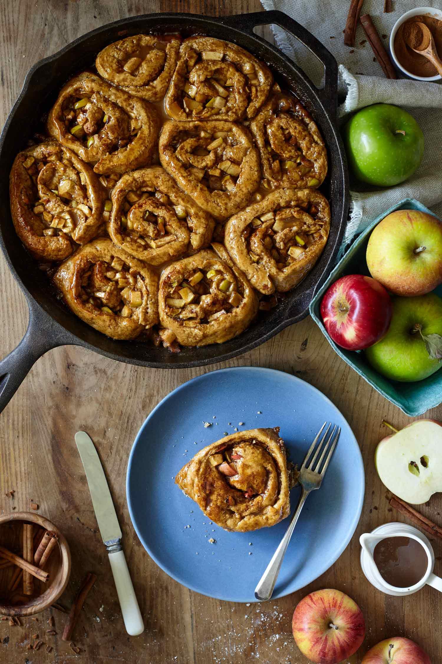 Caramel-Apple-Sticky-Cinnamon-Buns-Evergreen-Kitchen-1.jpg