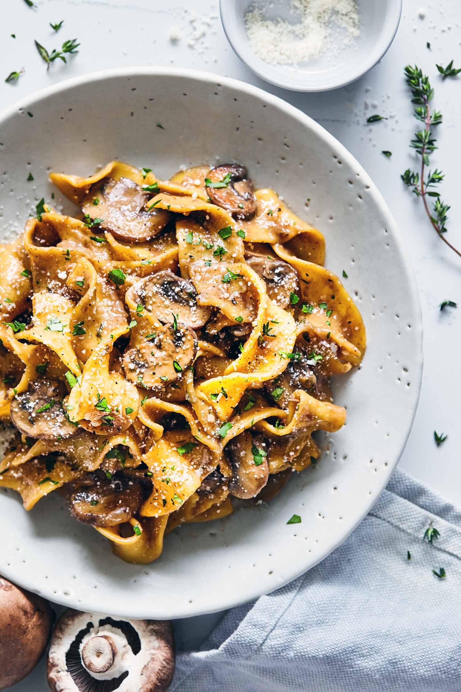 Mushroom Stroganoff   Evergreen Kitchen   Vegan & Gluten Free Options