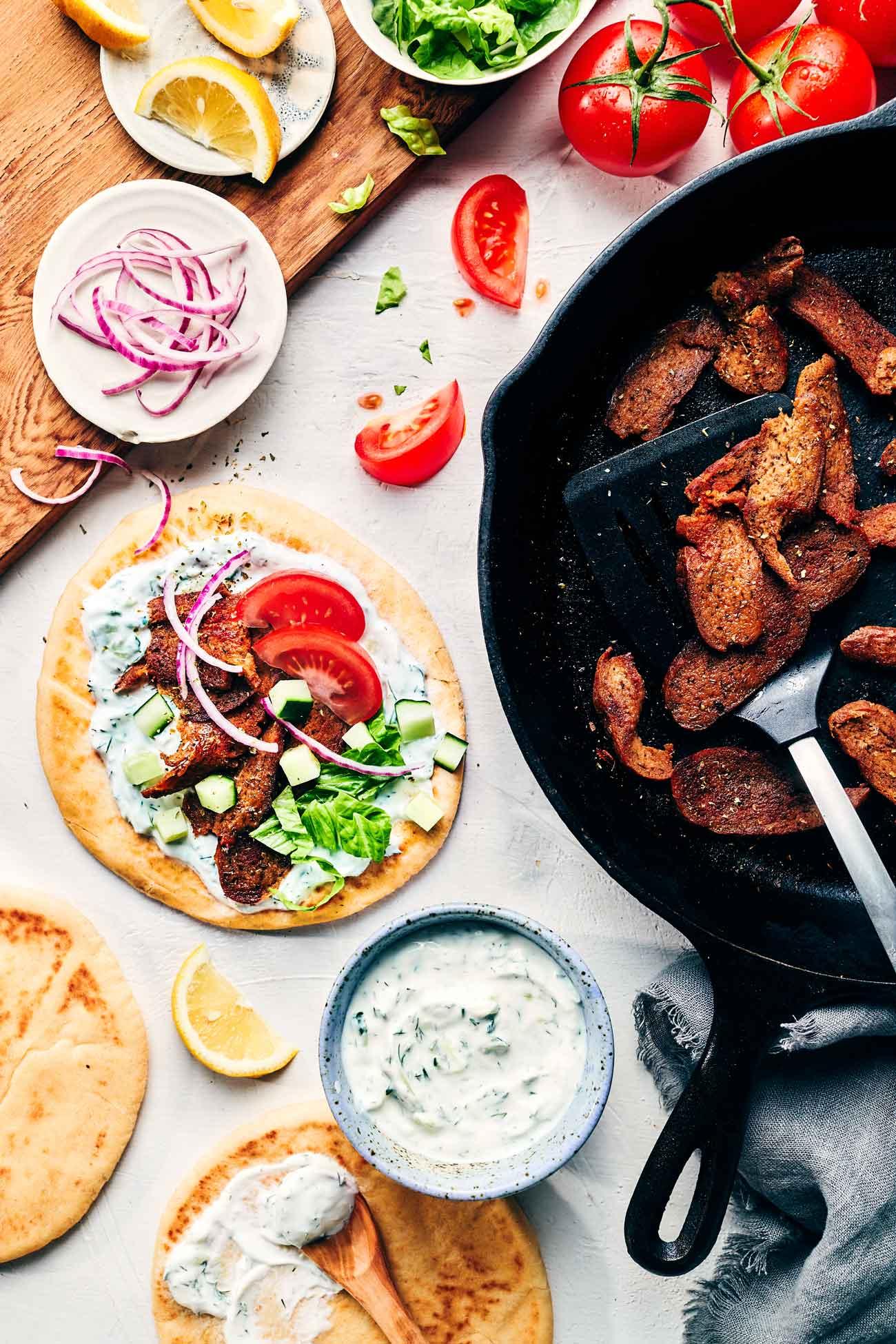 Vegan Greek Gyros   Evergreen Kitchen   Vegan