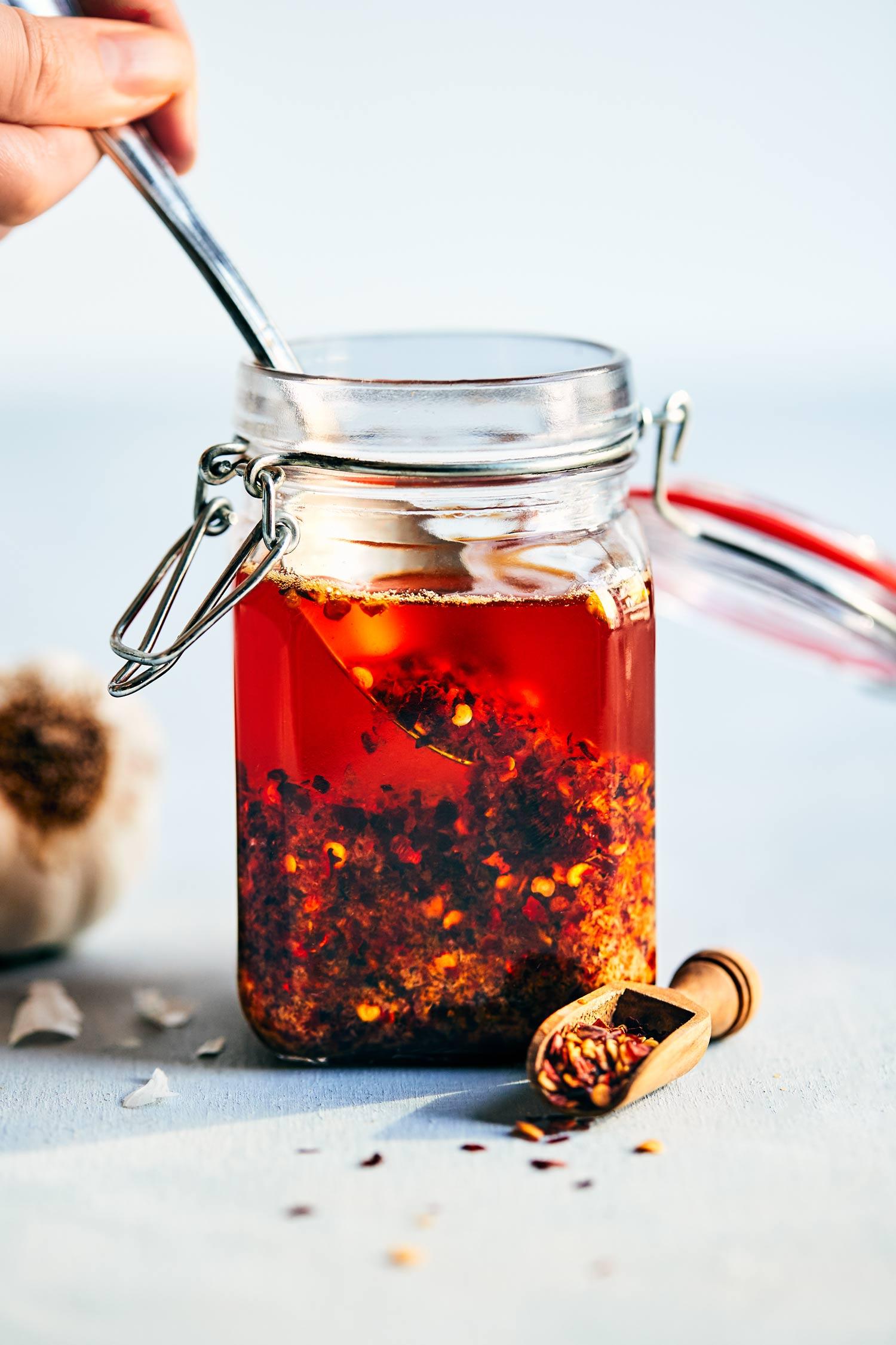 Homemade Chili Garlic Oil | Evergreen Kitchen | Vegan & Gluten Free